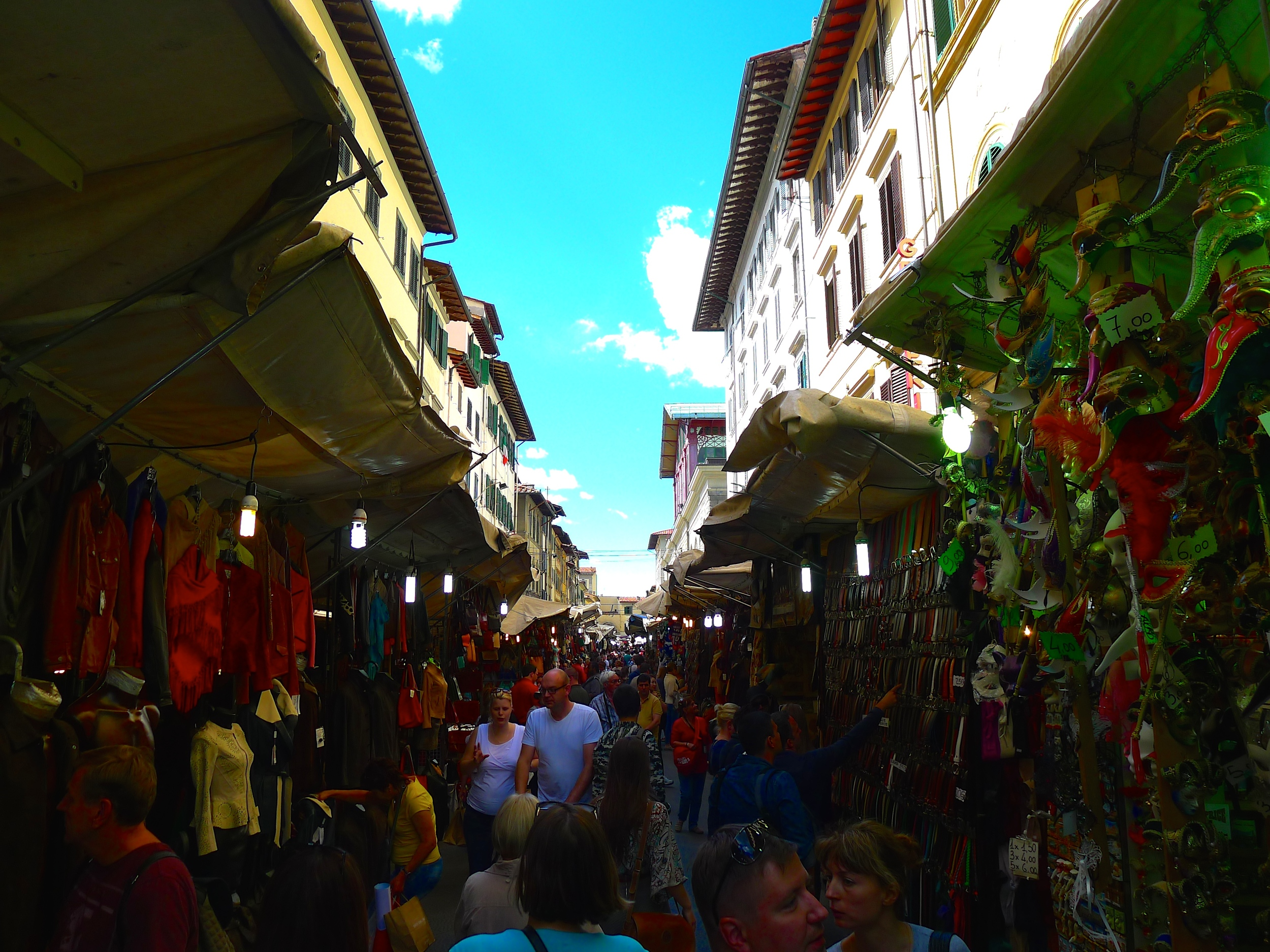 The street markets in Florence, Italy.