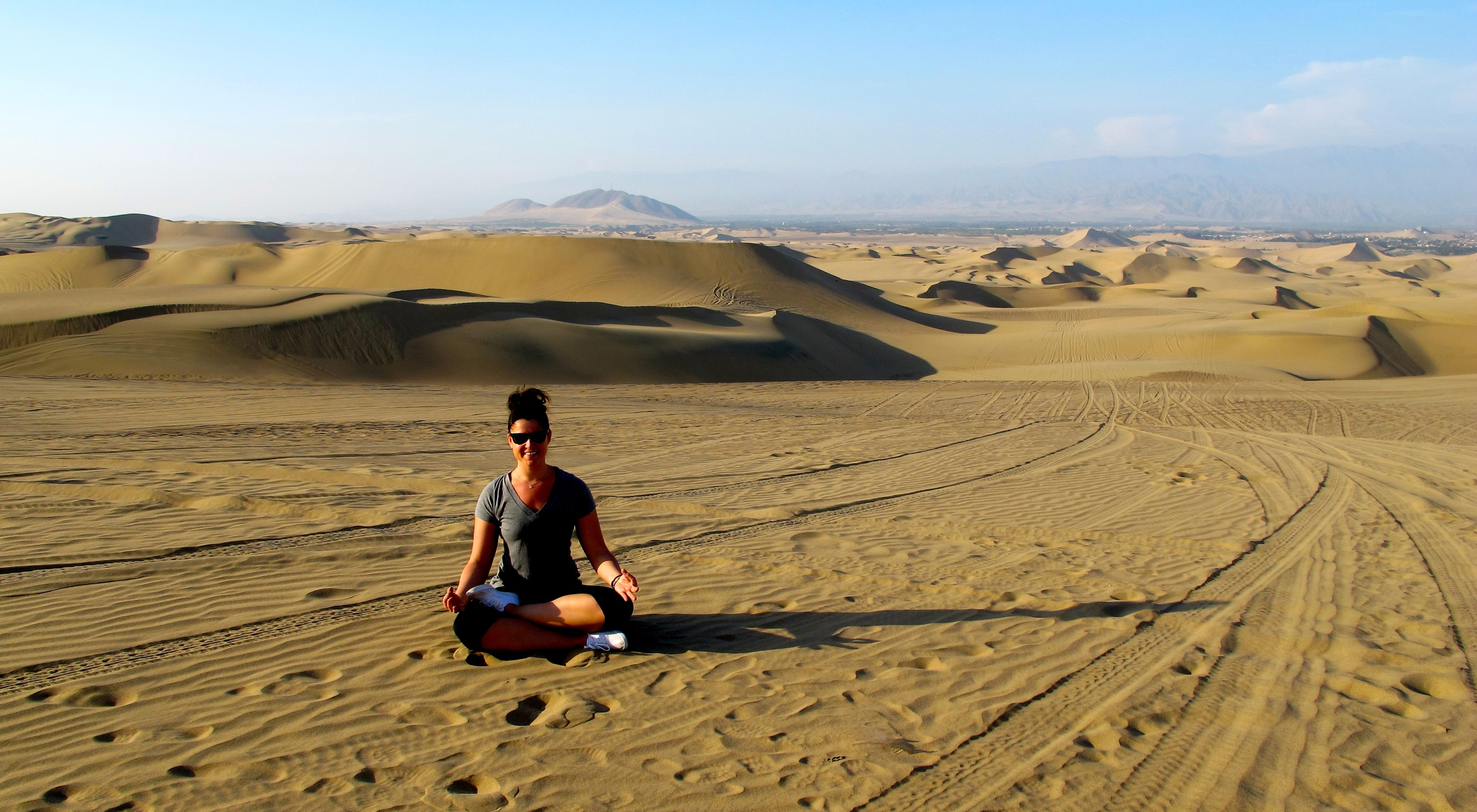 Hanging out in the dunes of Peru near the Huachachina Oasis. 2012.
