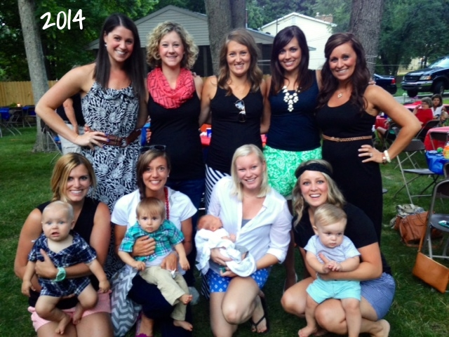 The Rib Party 2014. Some of the ladies and the newest additions to the group.