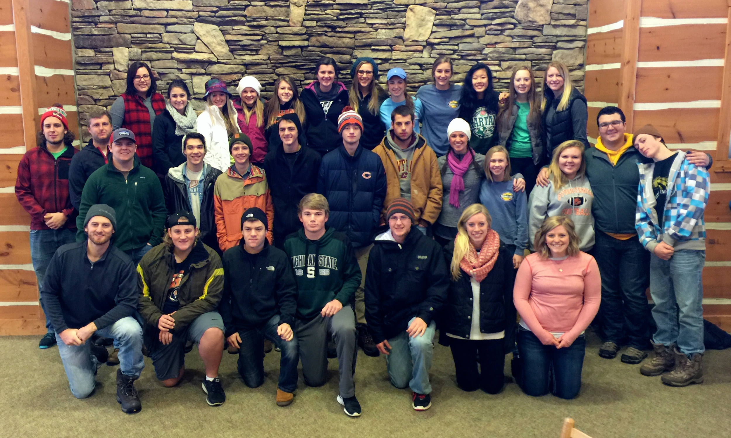 Byron Center Young Life at Timber Wolf Lake, Winter Weekend 2015
