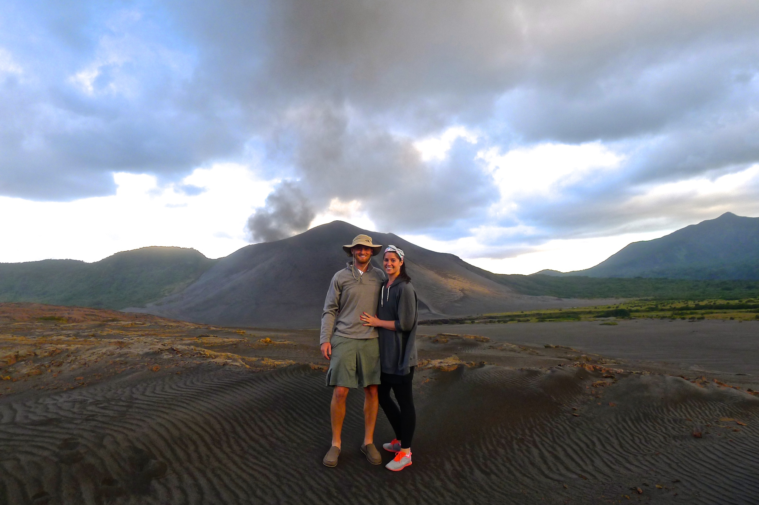 Jeff and I during our trip to Tanna in 2013. The island was reported to have 100% of it's crops and structures destroyedby Cyclone Pam.