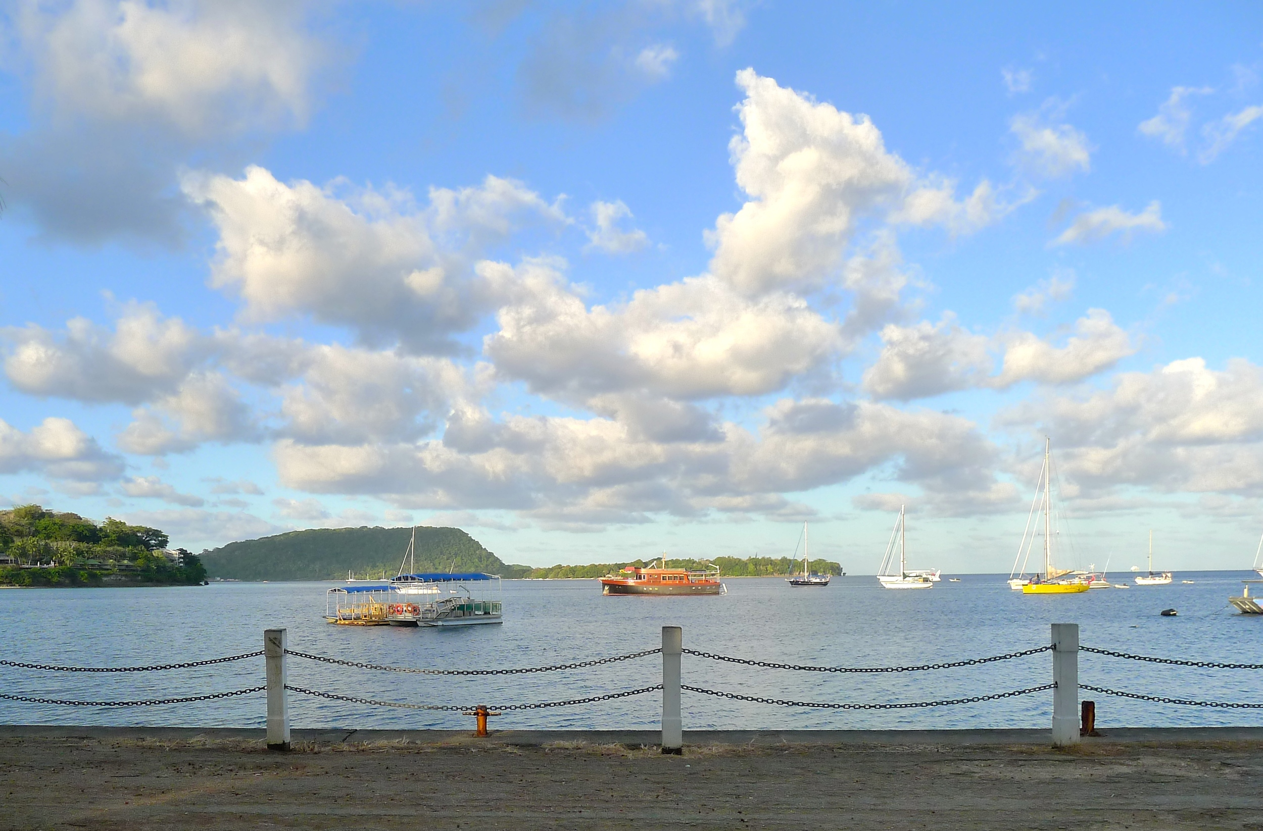 The same view of the harbor in Port Vila, Vanuatu during our trip in 2013.