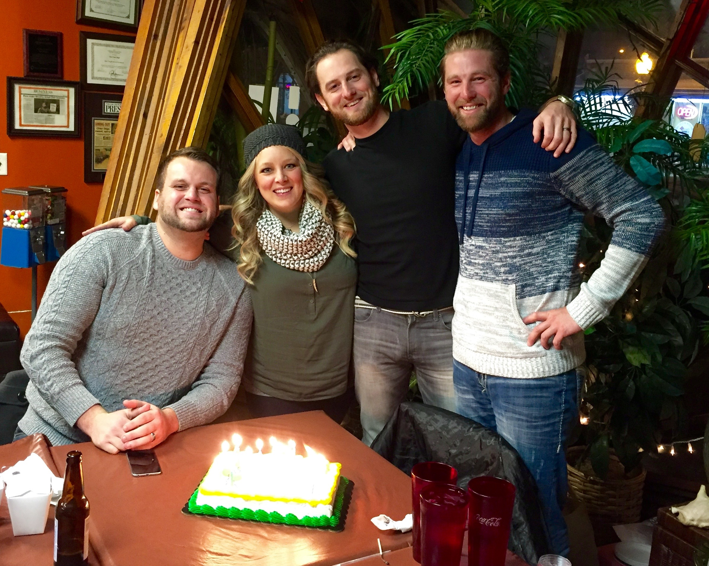 The birthday gang: Marcus, Jessica, Jeff and Cody.