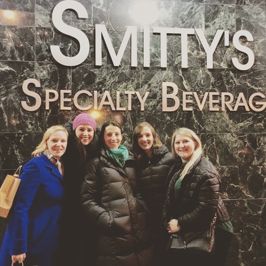 Kari, Me, Carol, Ellie, and Kristin in front of the infamous Smittys.
