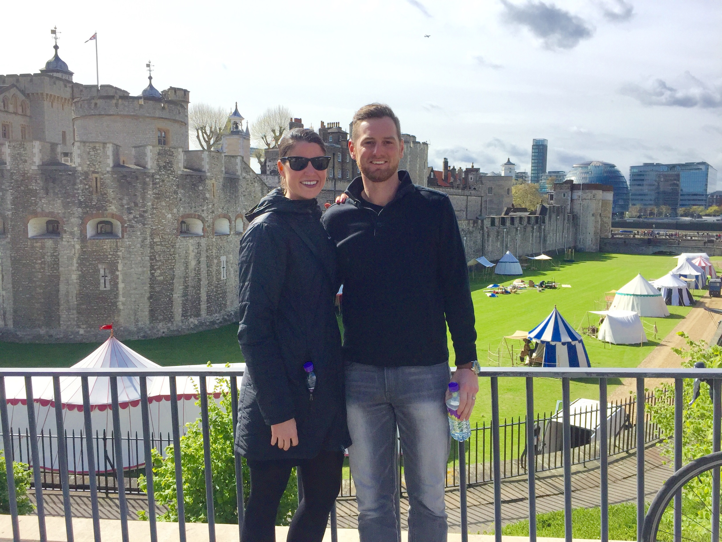 In front of the Tower of London.