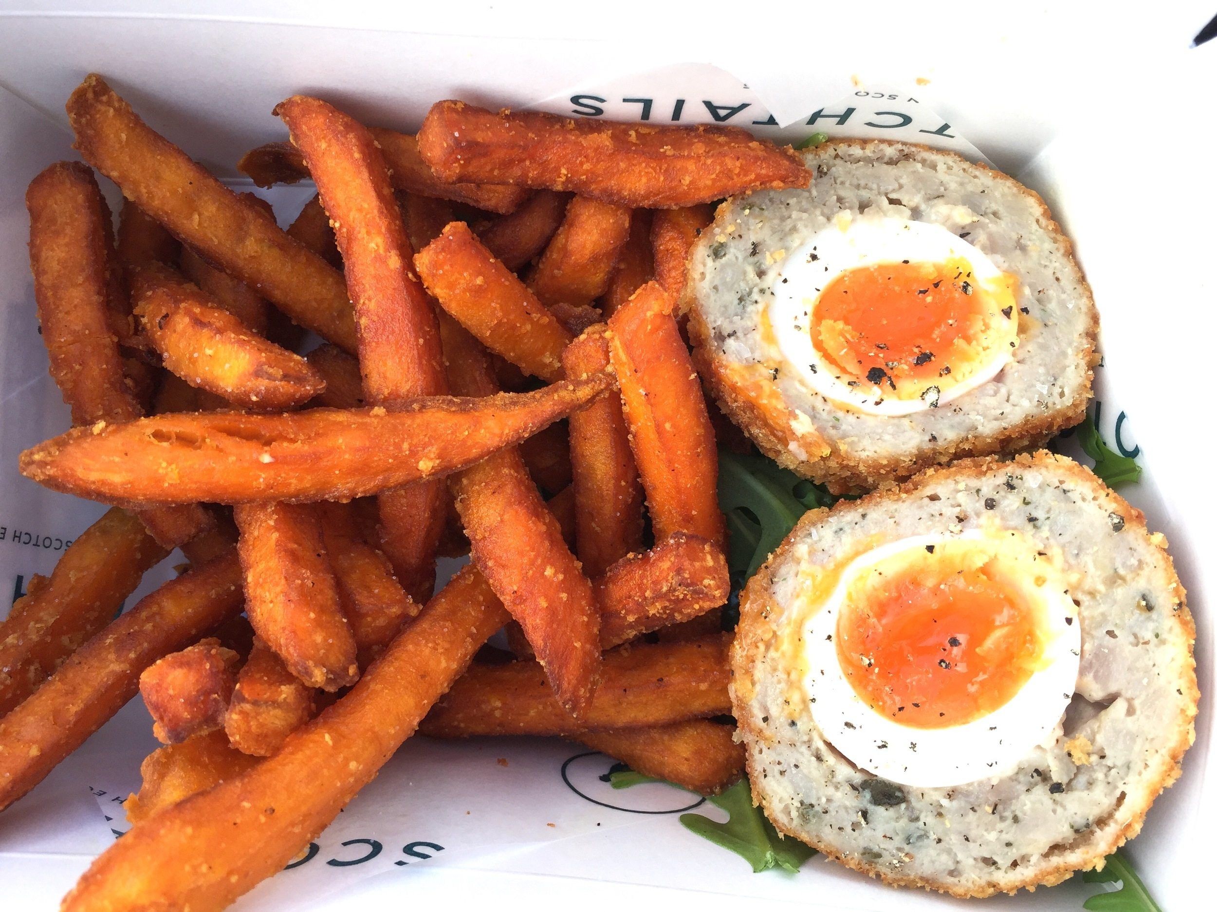 Best lunch I've had in a long time - Scotch Eggs from a vendor in Borough Market.
