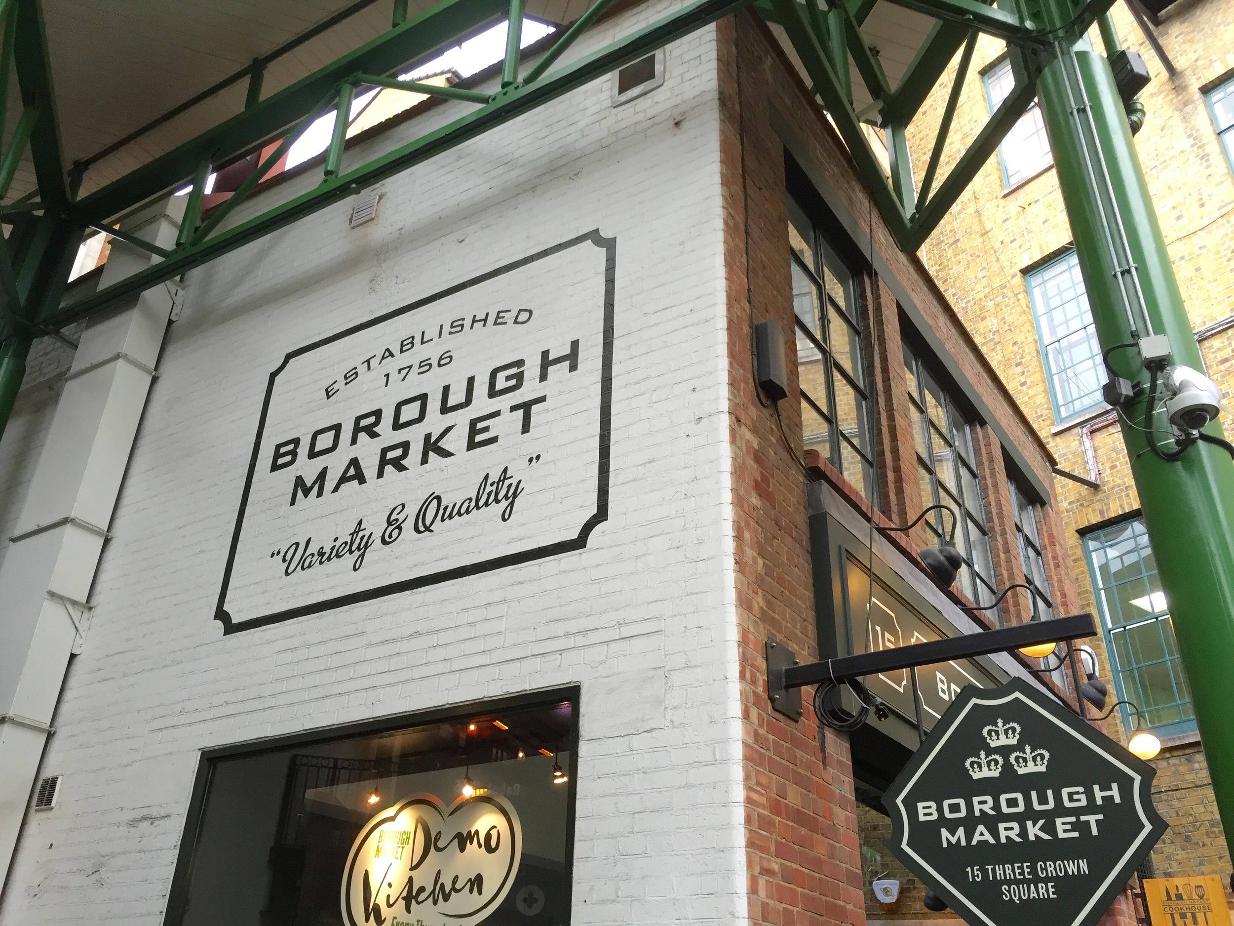 Borough Market in London, England.