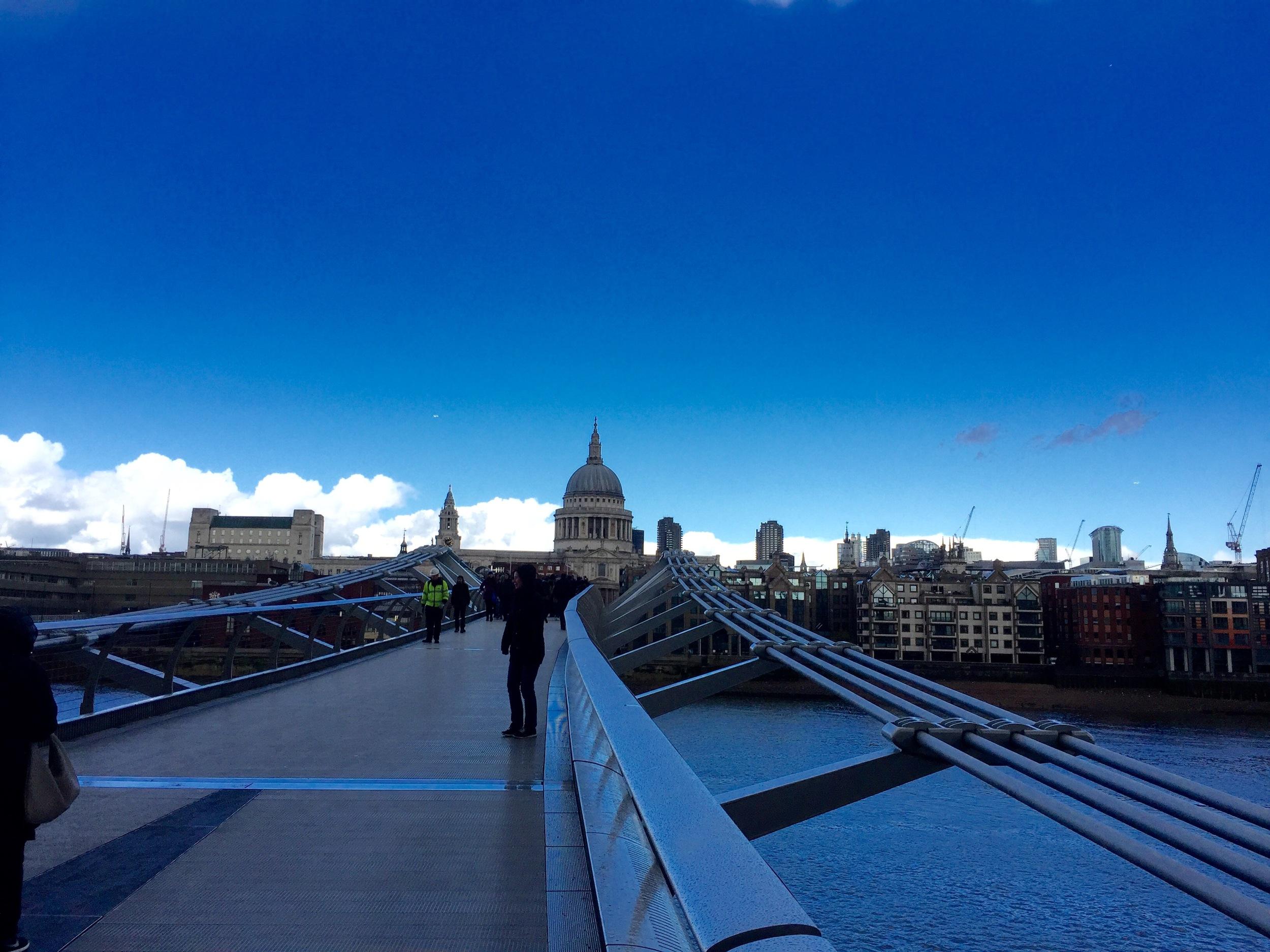 The Millennium Bridge in London, England.