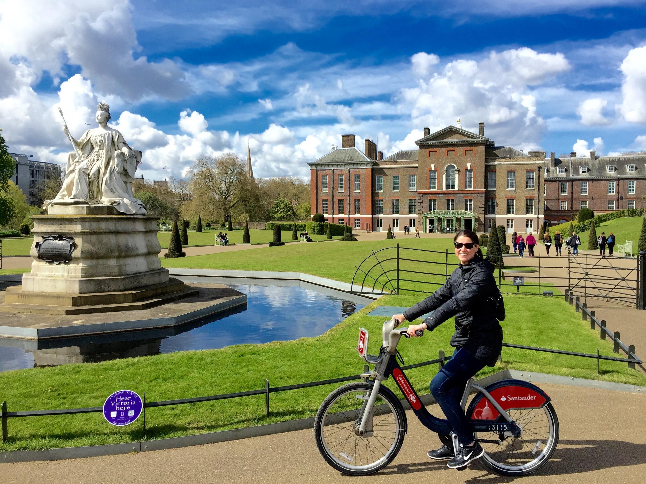 Dale Earnhardt Jr. outside Kensington Palace in London, England.