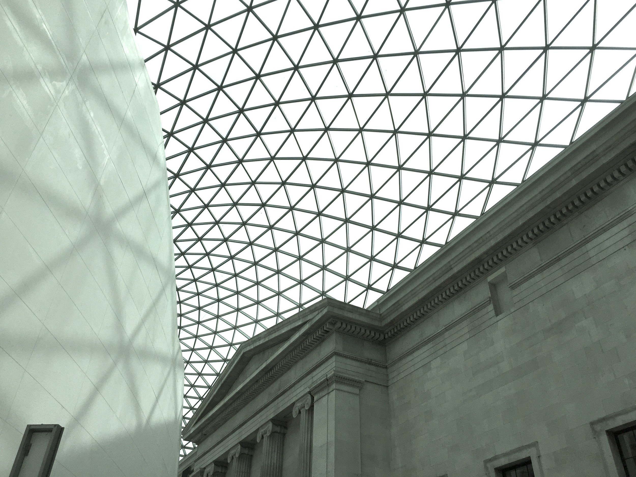 Inside the British Museum in London, England.