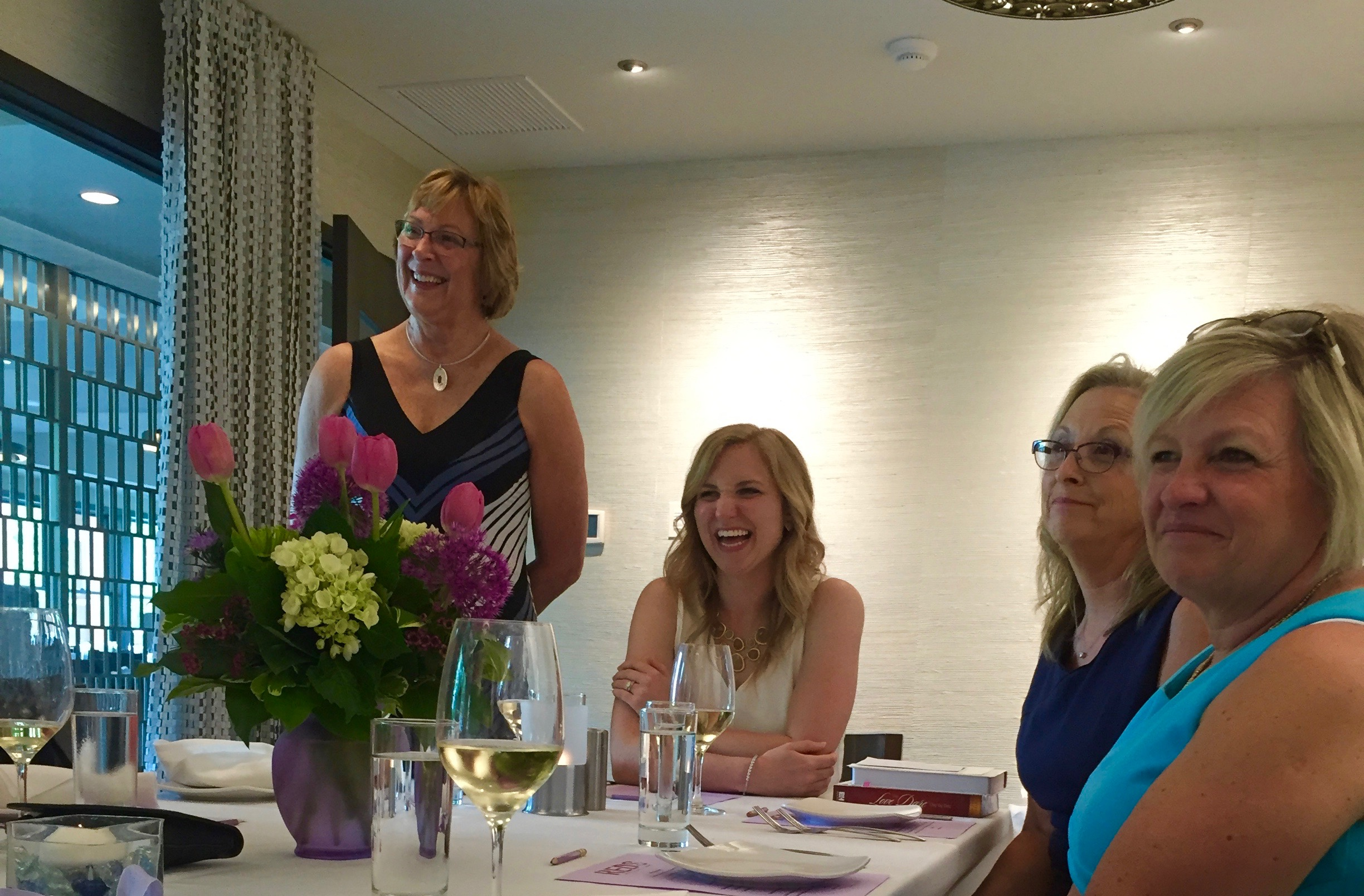 A toast to Stephanie at Thousand Oaks Golf Club for her bridal shower.