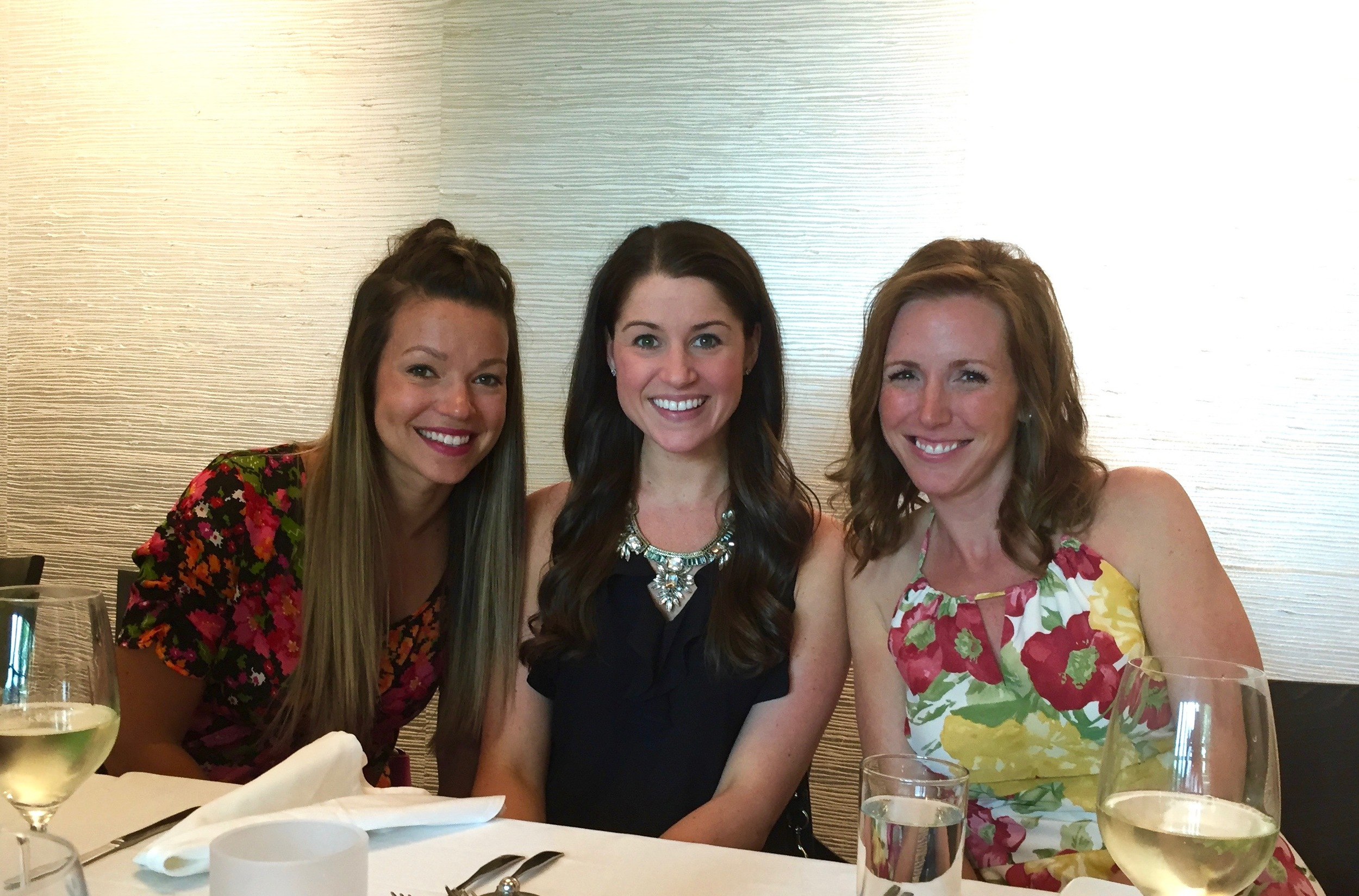 All the brothers wives at Stephanie's bridal shower: Sandy, Me & Jen.