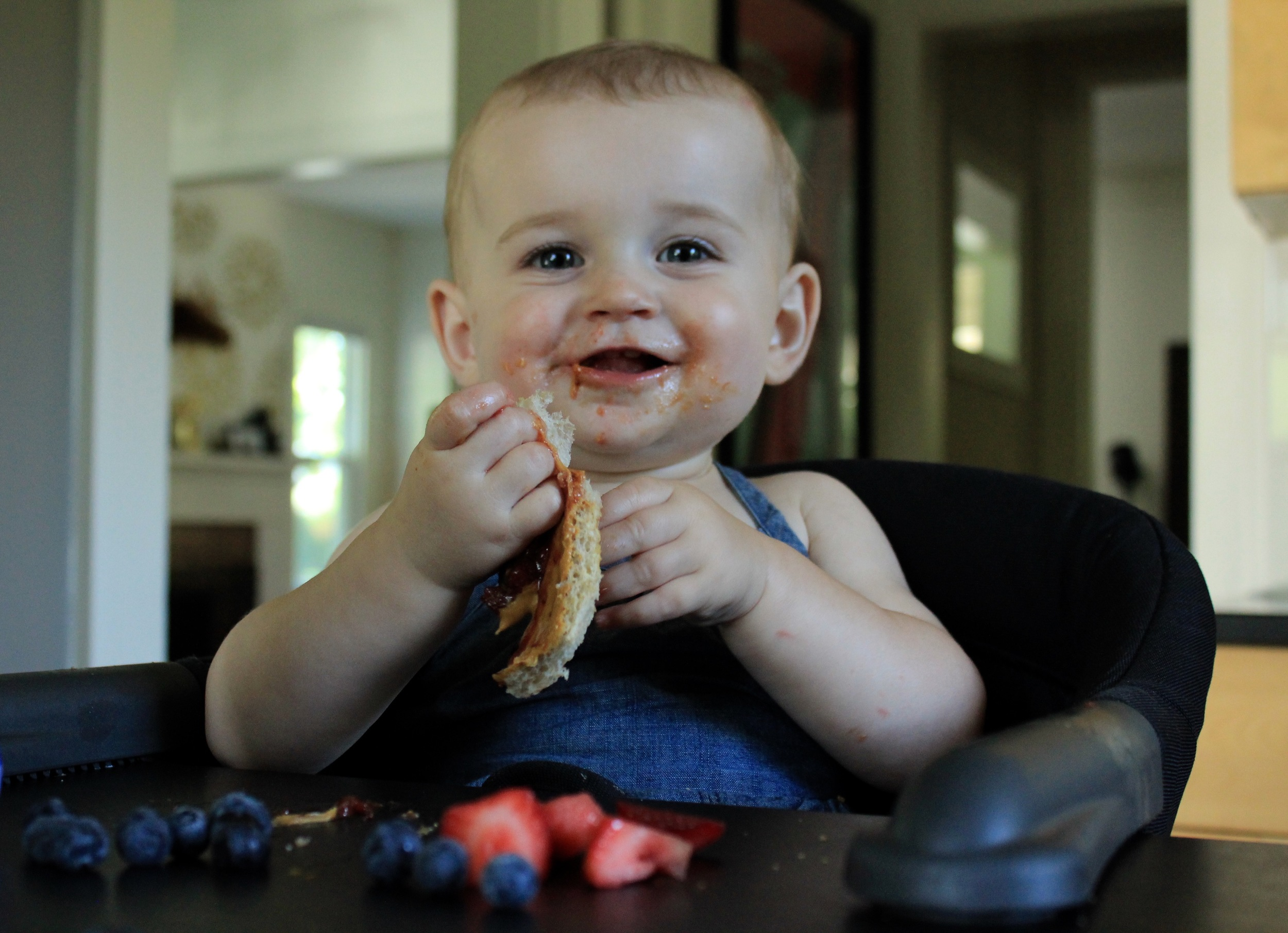 Natalie LOVES peanut butter sandwiches. A Lot.
