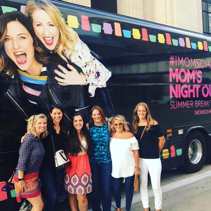 Ladies night out at #IMomSoHard at DeVos Performance Hall.