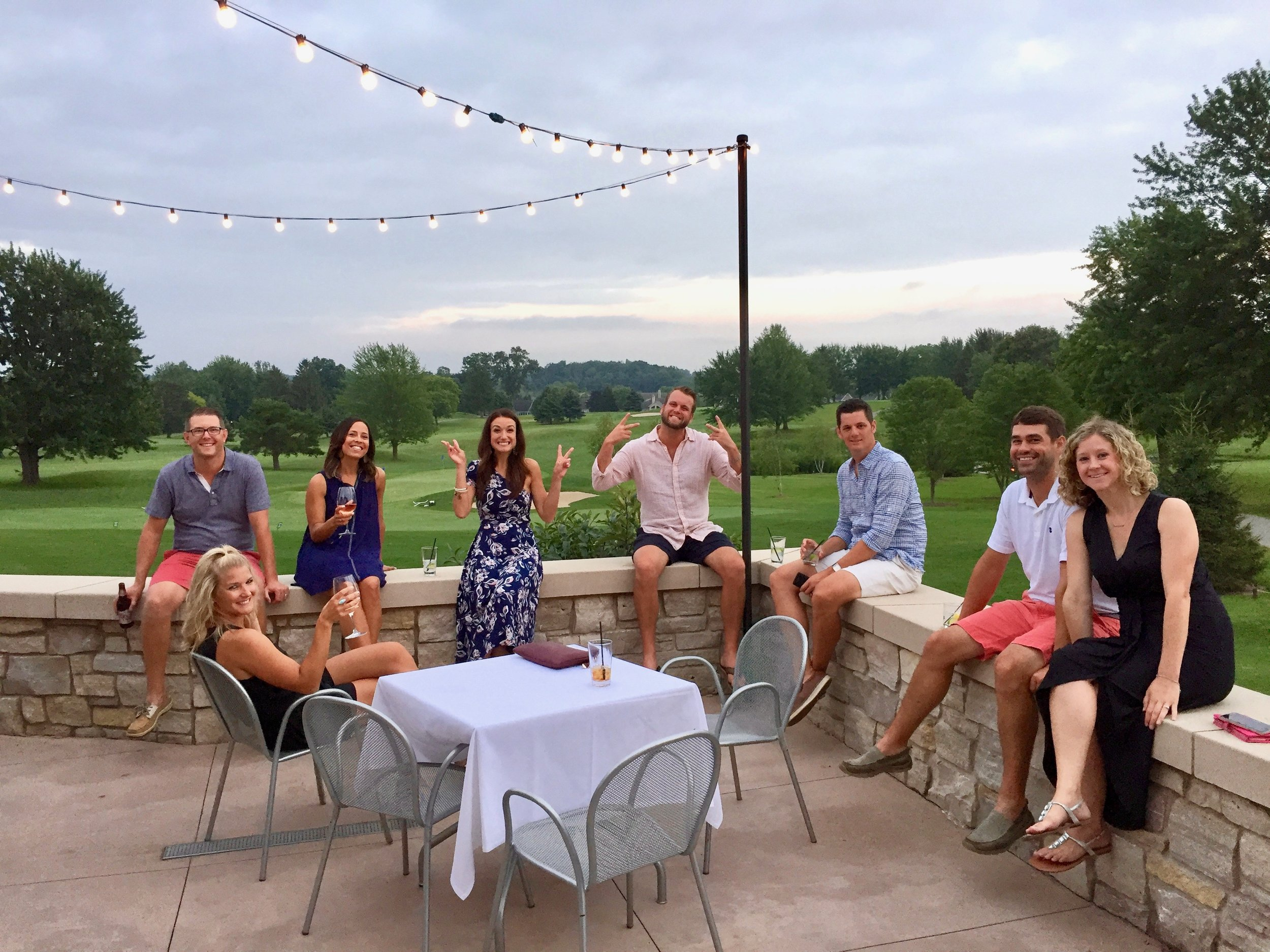 Some of our fine friends enjoying the patio at Member Member Event.