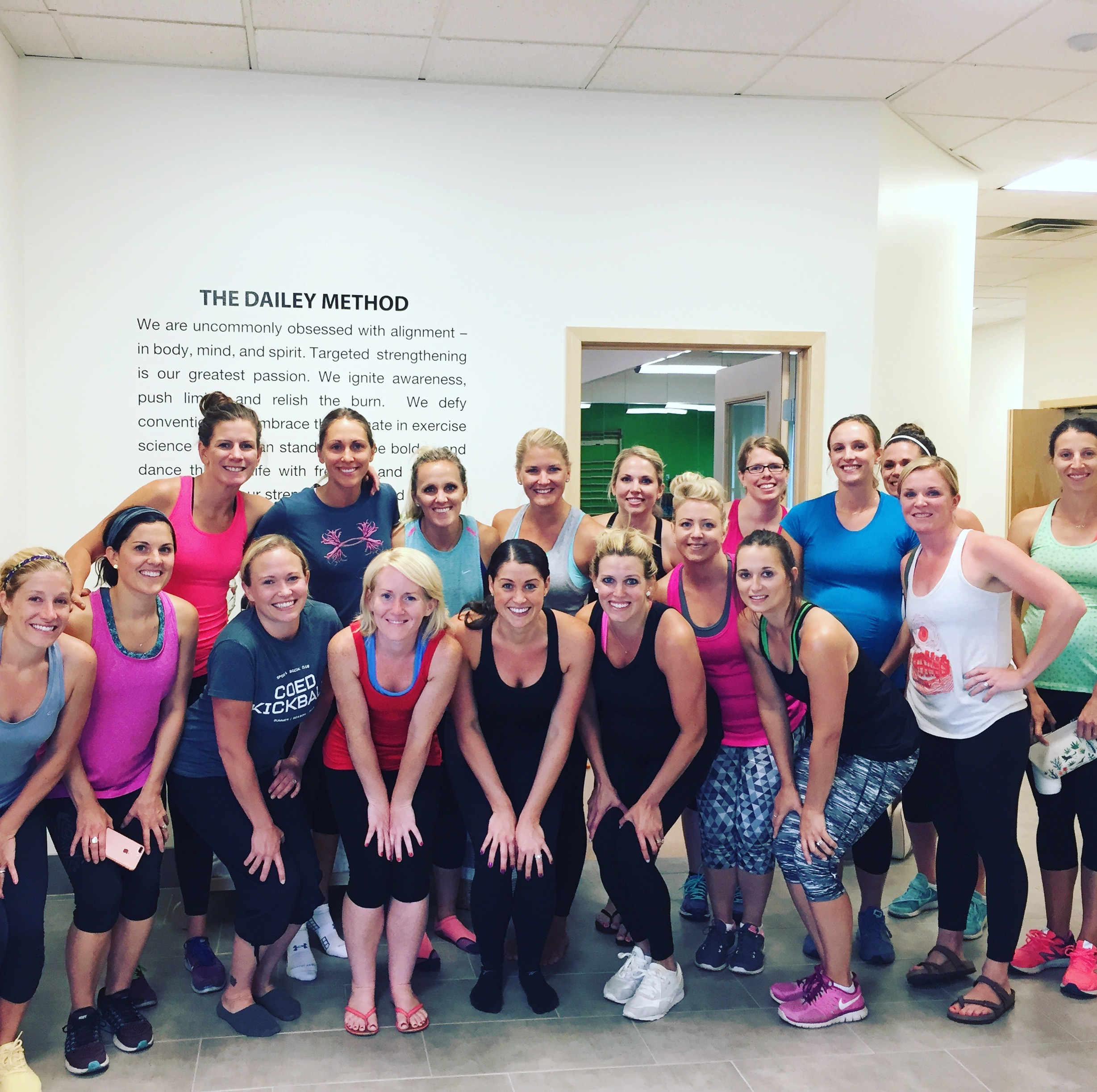 All my pretty friends who showed up for a super muscle busting barre class with me!