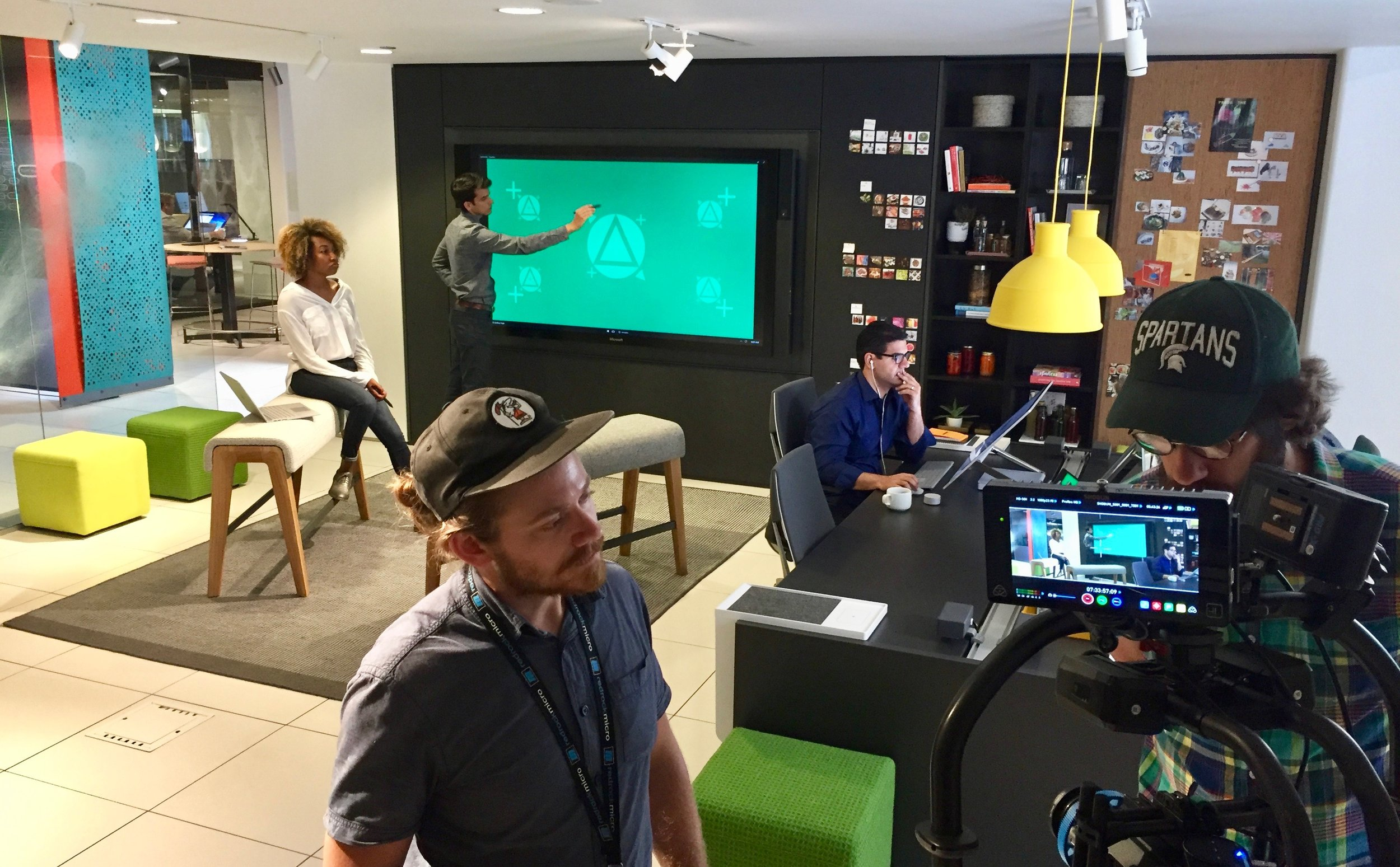 On Set in the Steelcase Chicago Showroom with partner Microsoft.