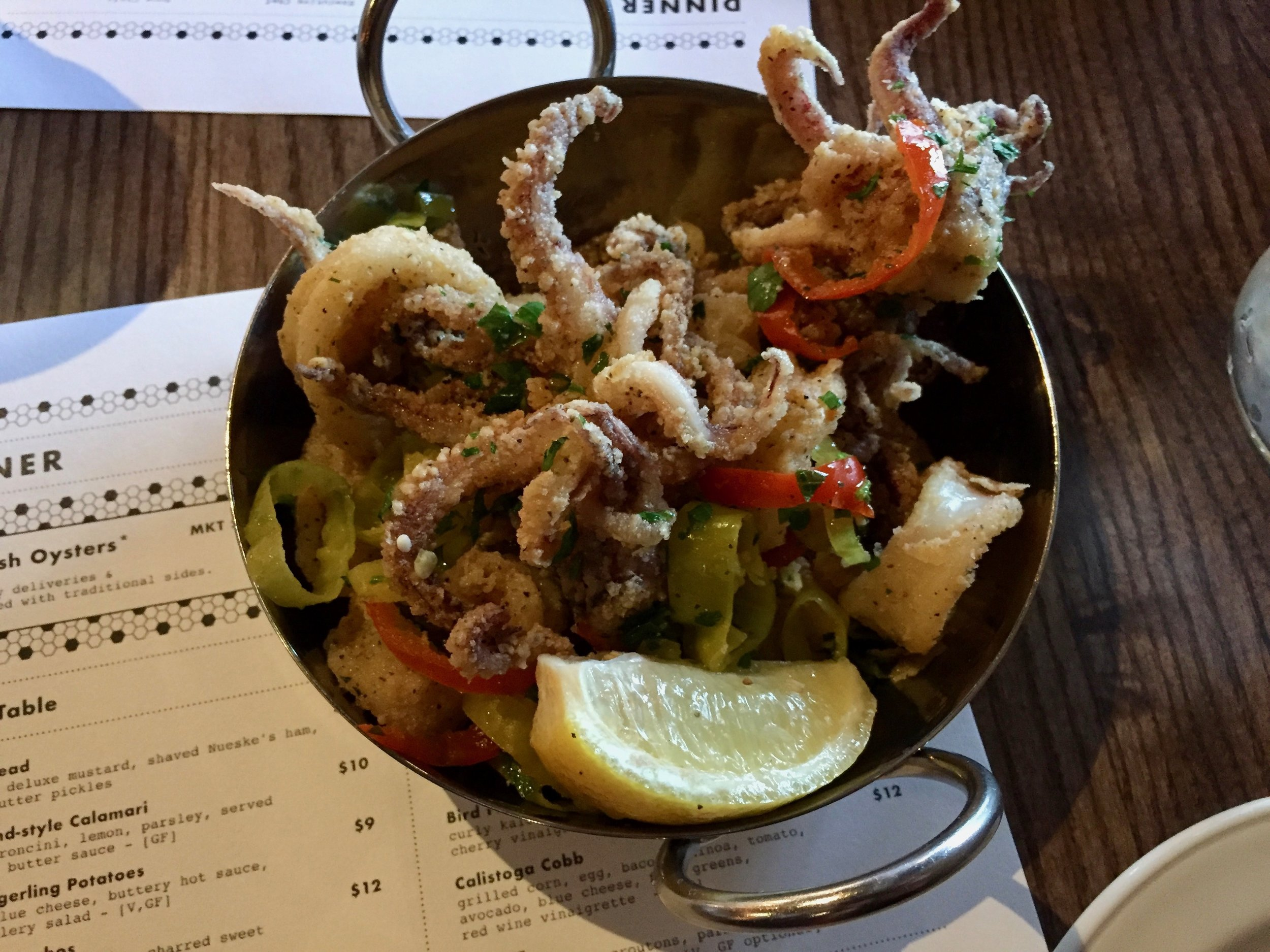 The Calamari at Noco Provisions, tasty!
