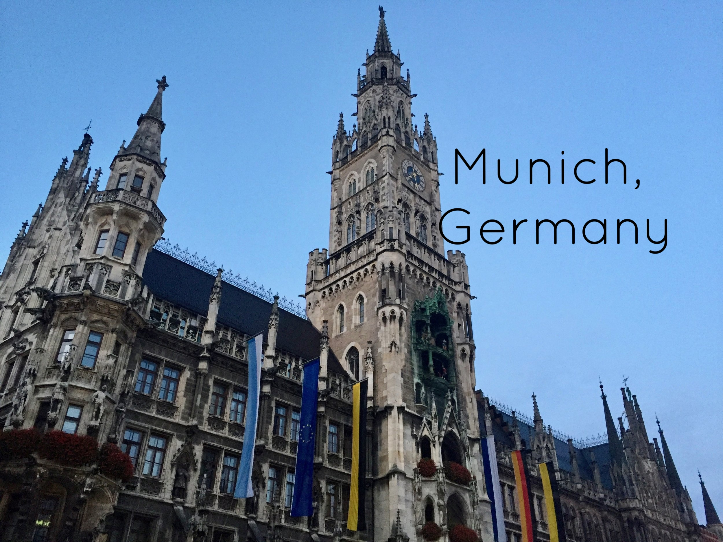 New Town Hall in the center of Marienplatz in Munich, Germany.
