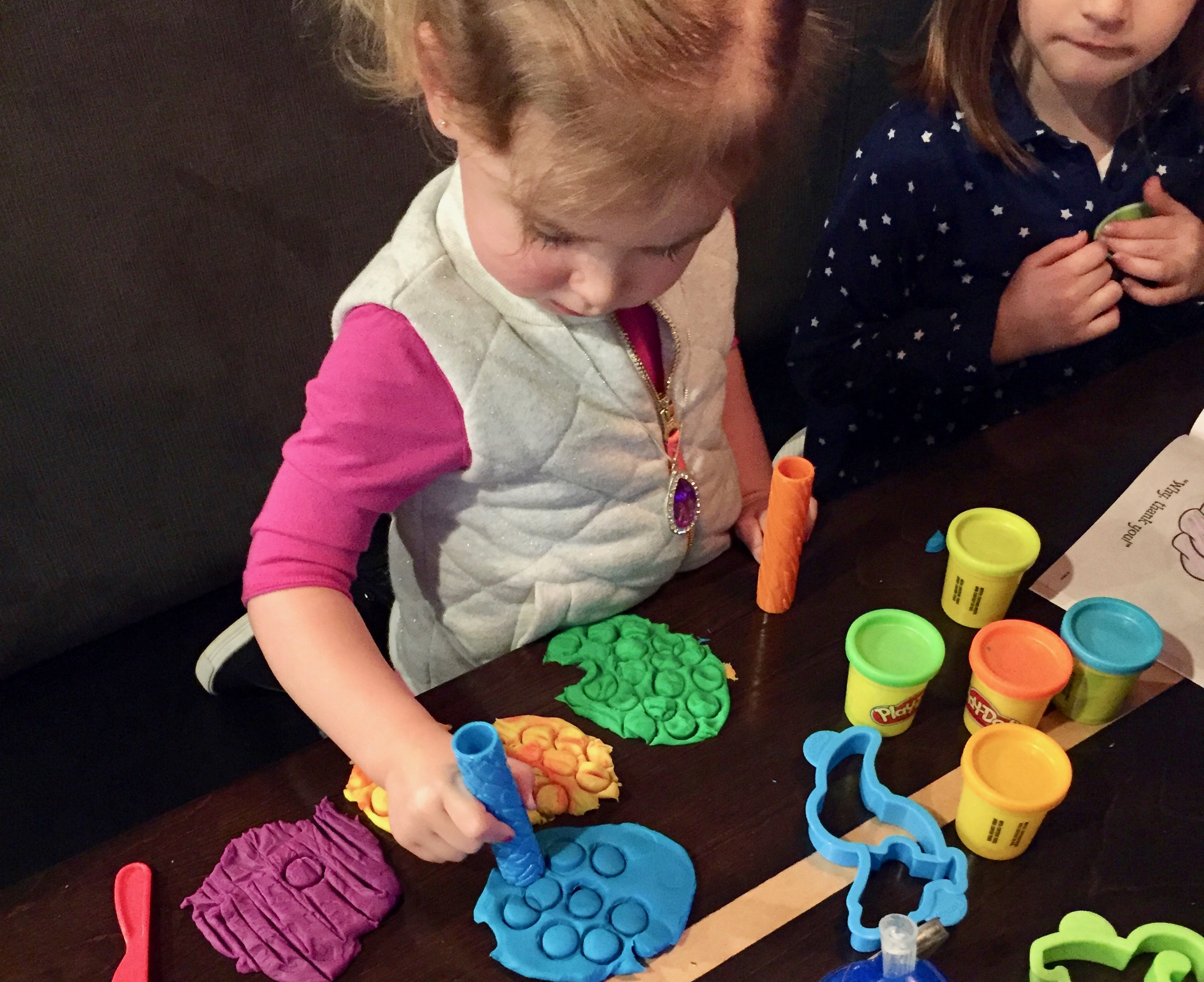 Playdough time at Peppinos.