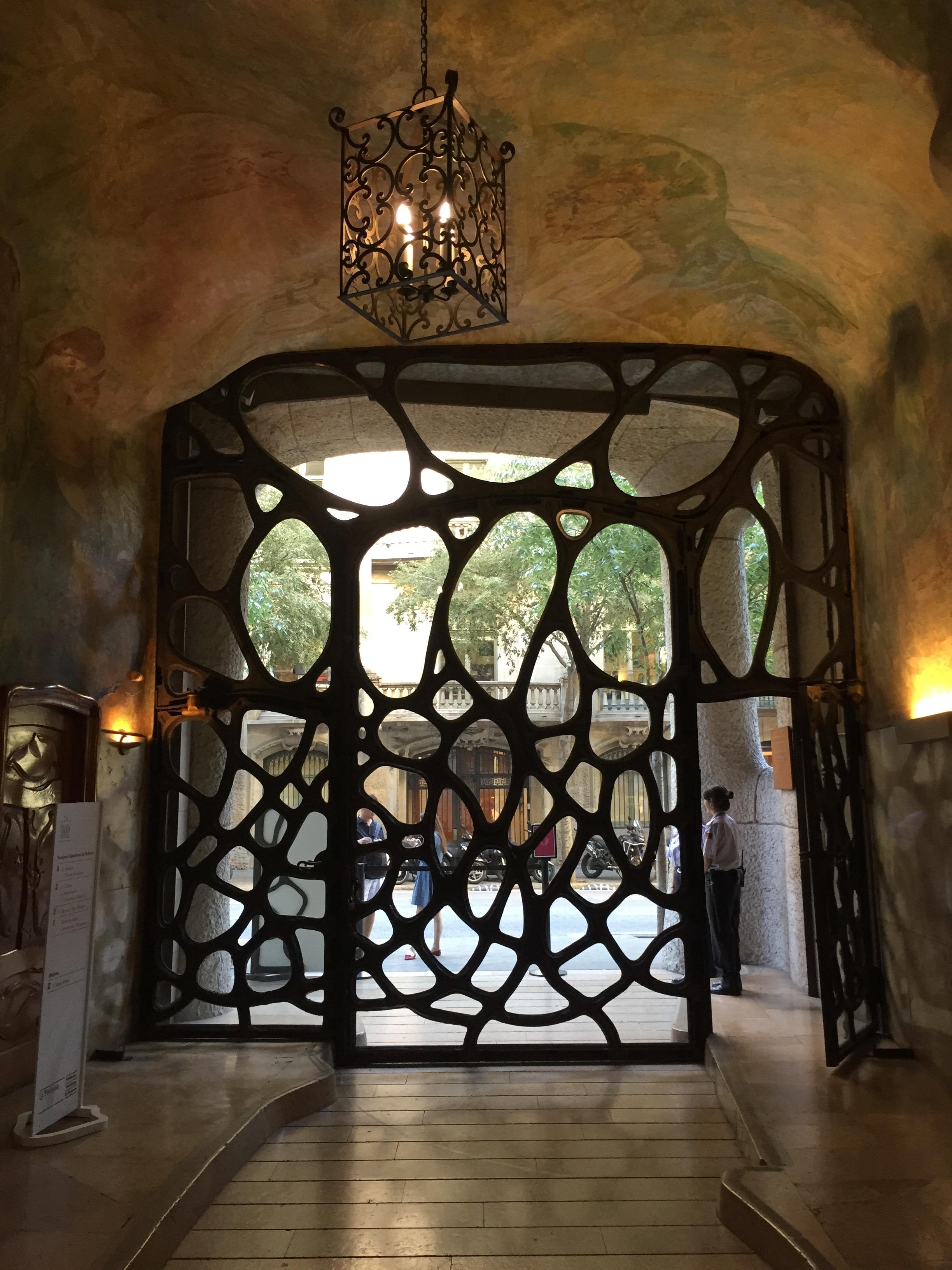 Barcelona Spain Gaudi door.jpg