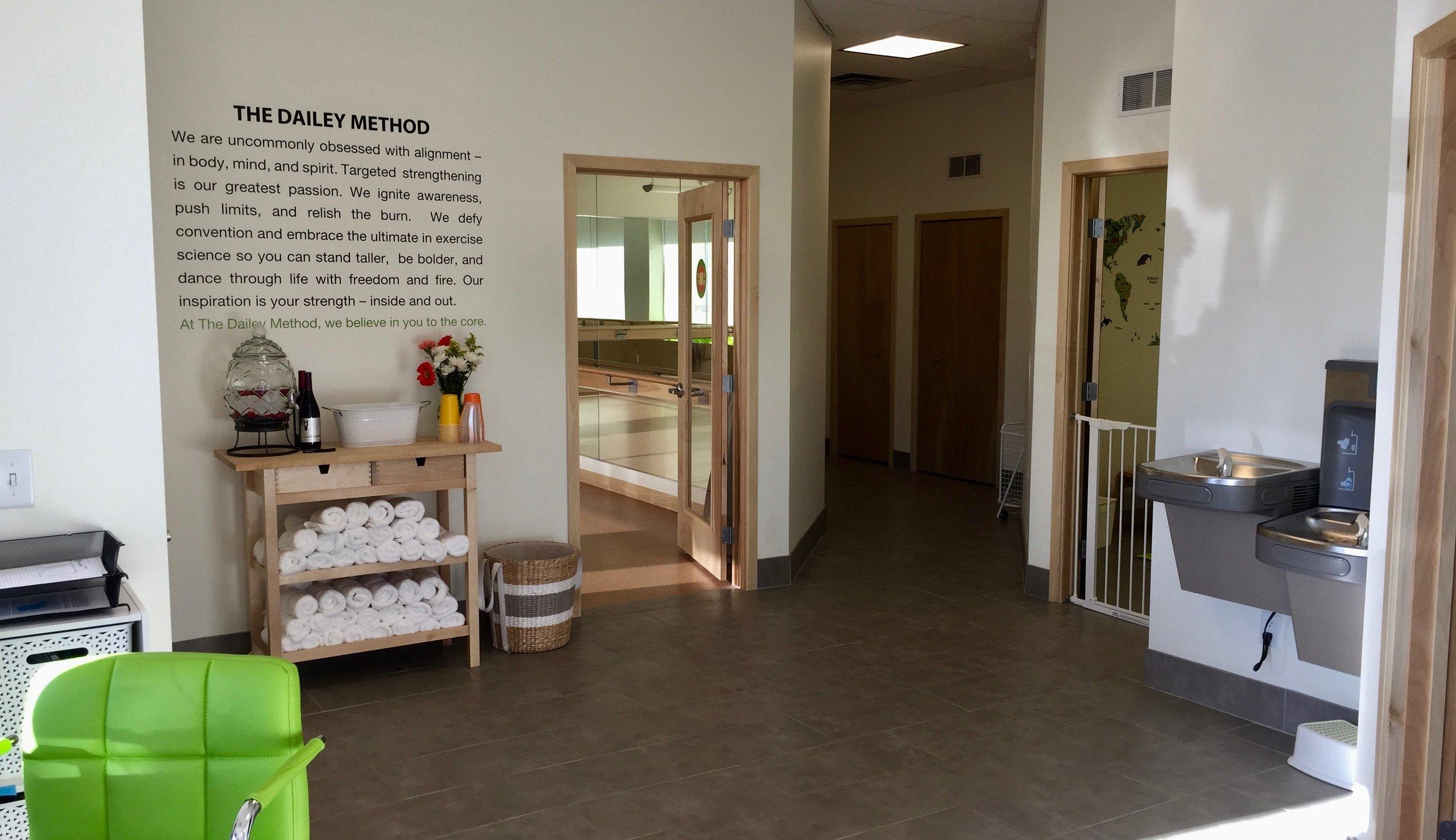 The Dailey Method Eastown Lobby.