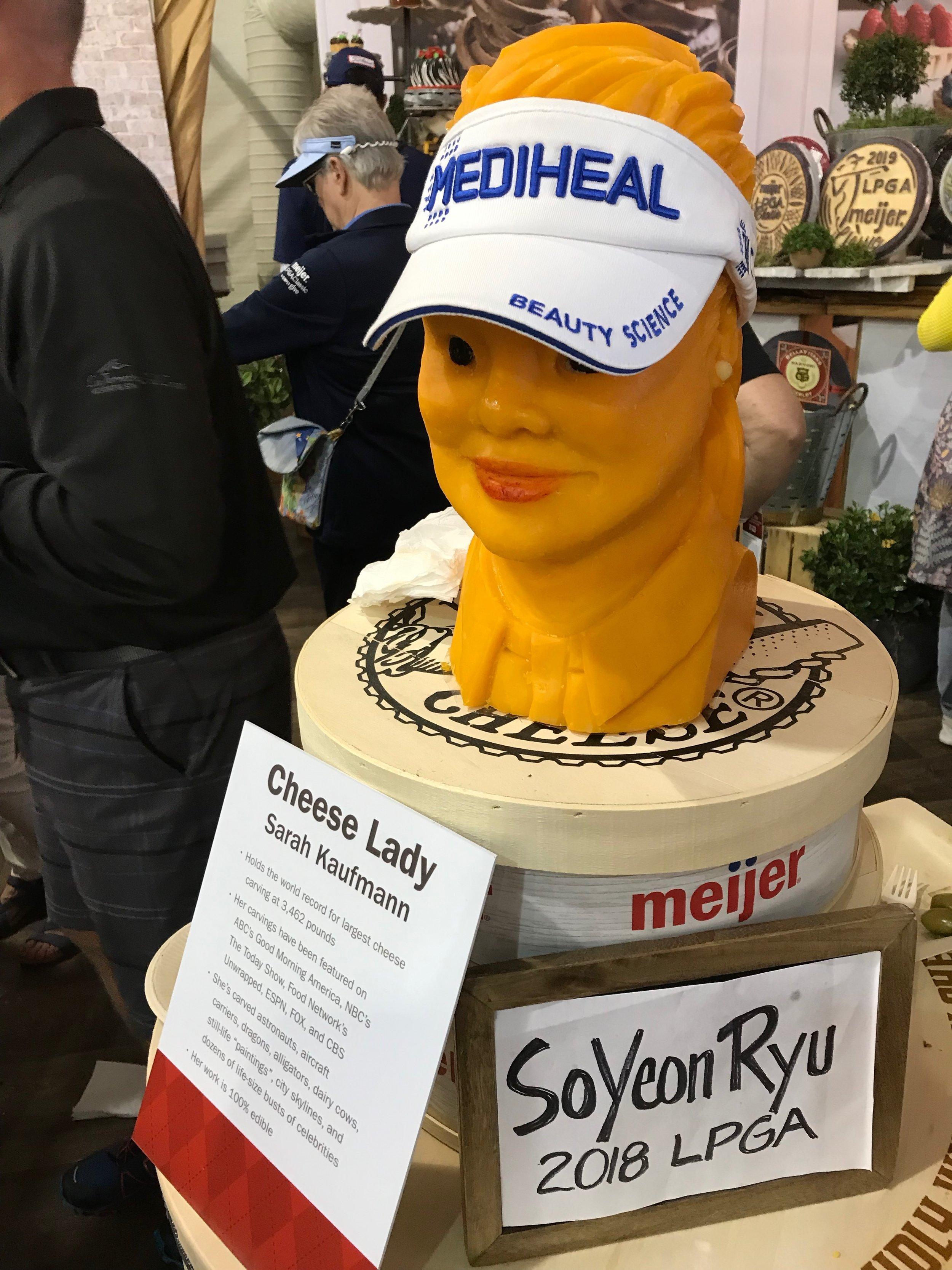 Meijer LPGA Classic cheese lady.jpeg