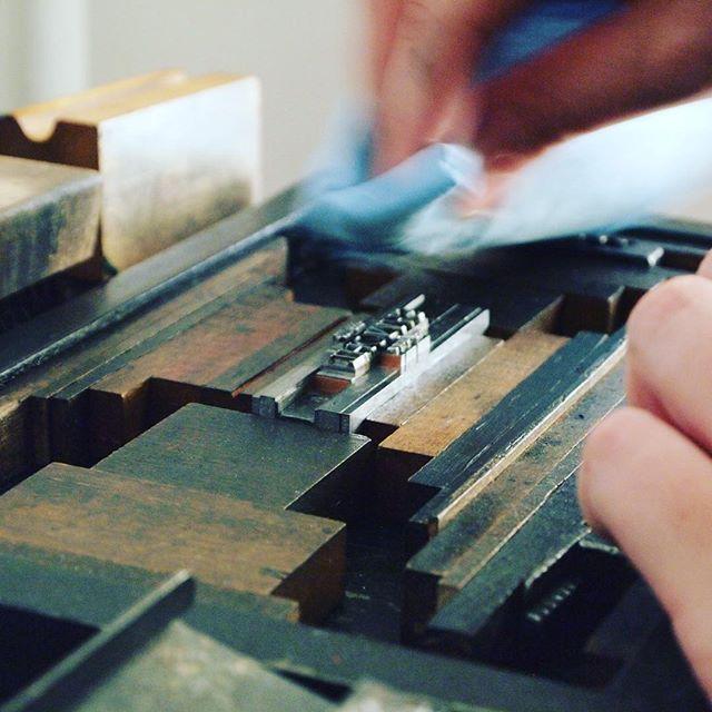 Print, clean, print, clean 👍🏼 #print #clean #letterpress