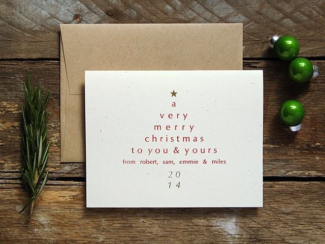 We got a wooden platform to shoot our stationery on! Thanks, Joel! (This is a holiday card from last year, now up on our website!) #letterpress #christmascard #photobackground #barnwood