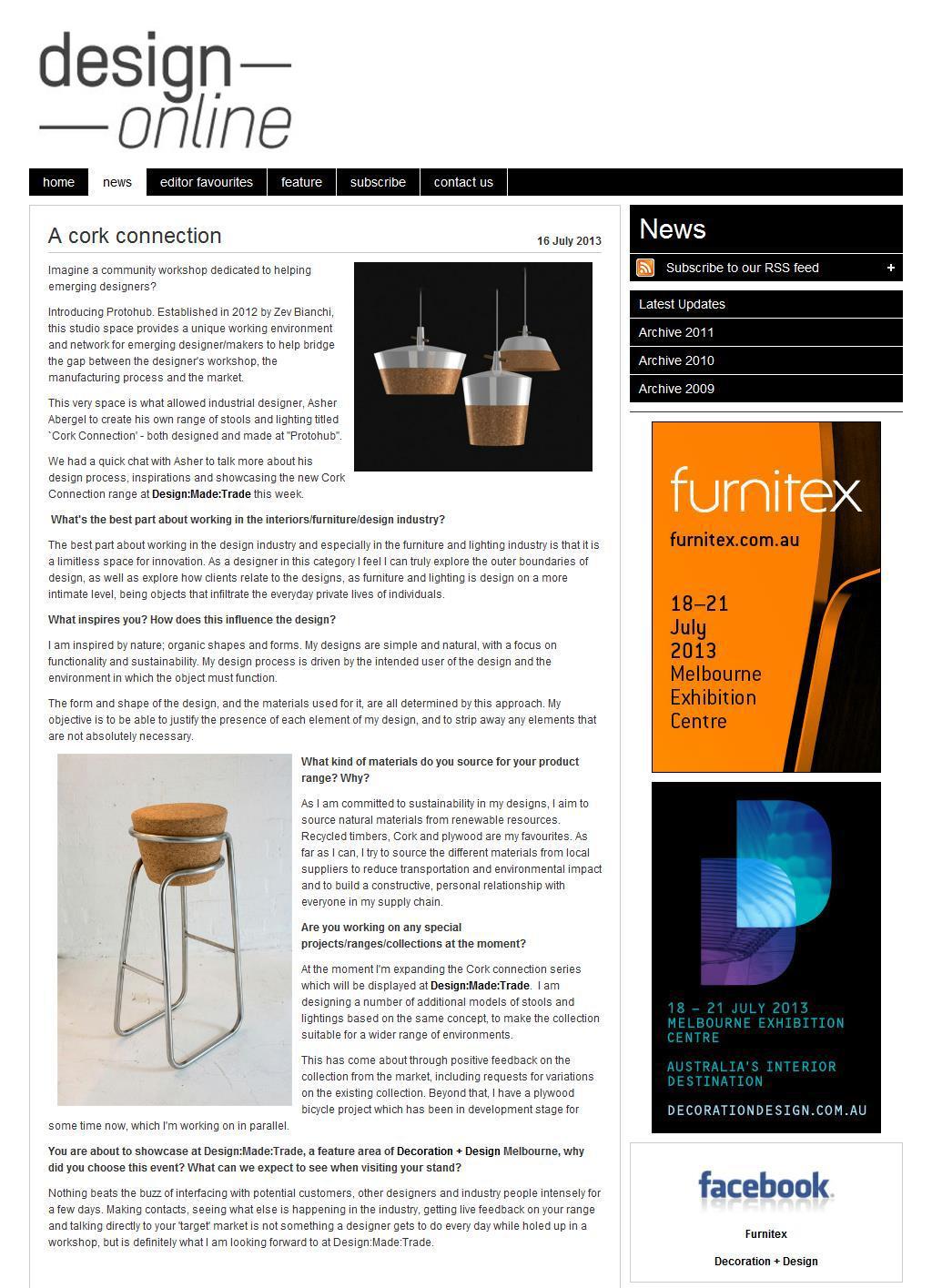 Design Online, July 2013