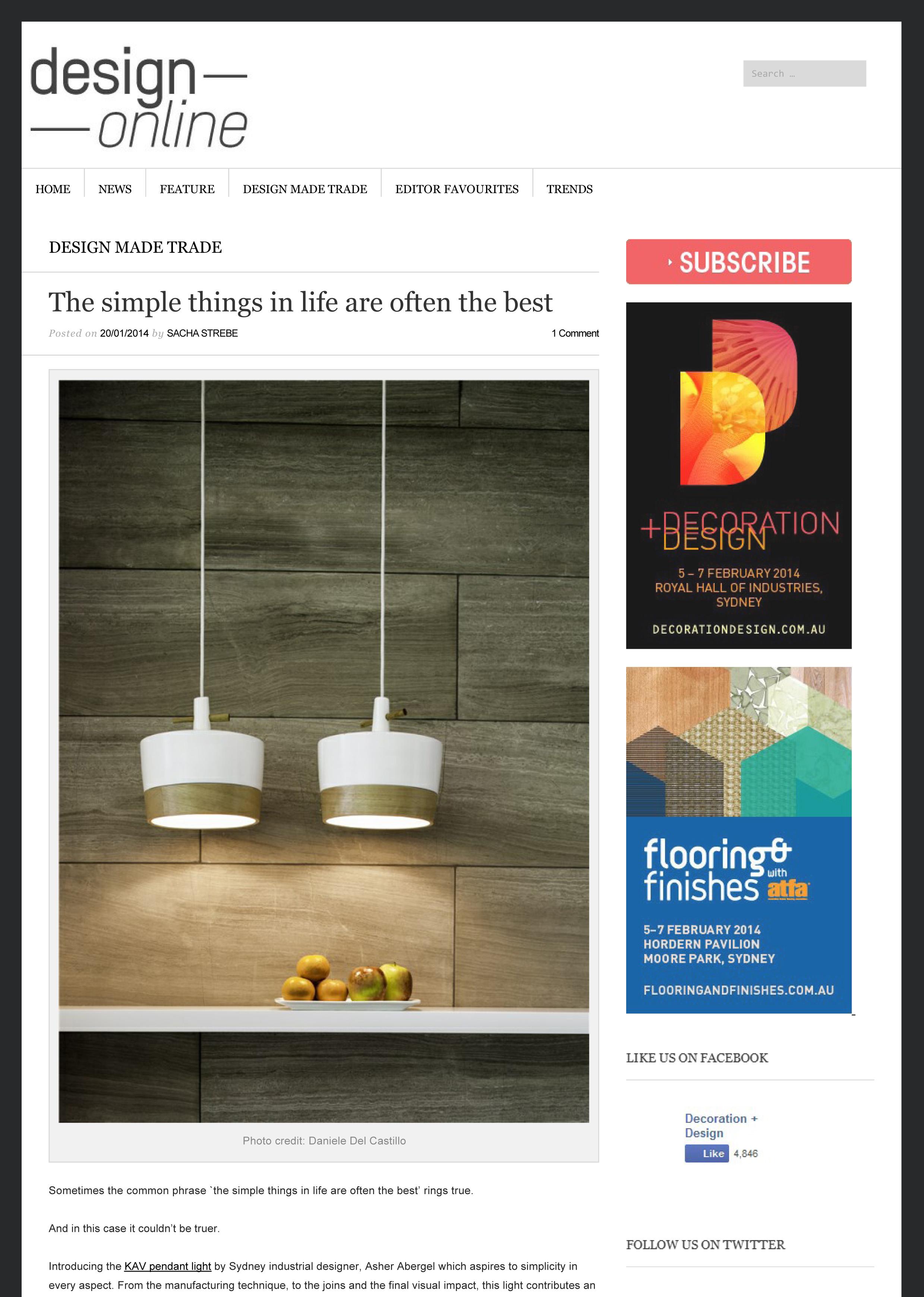 Design Online, January 2014