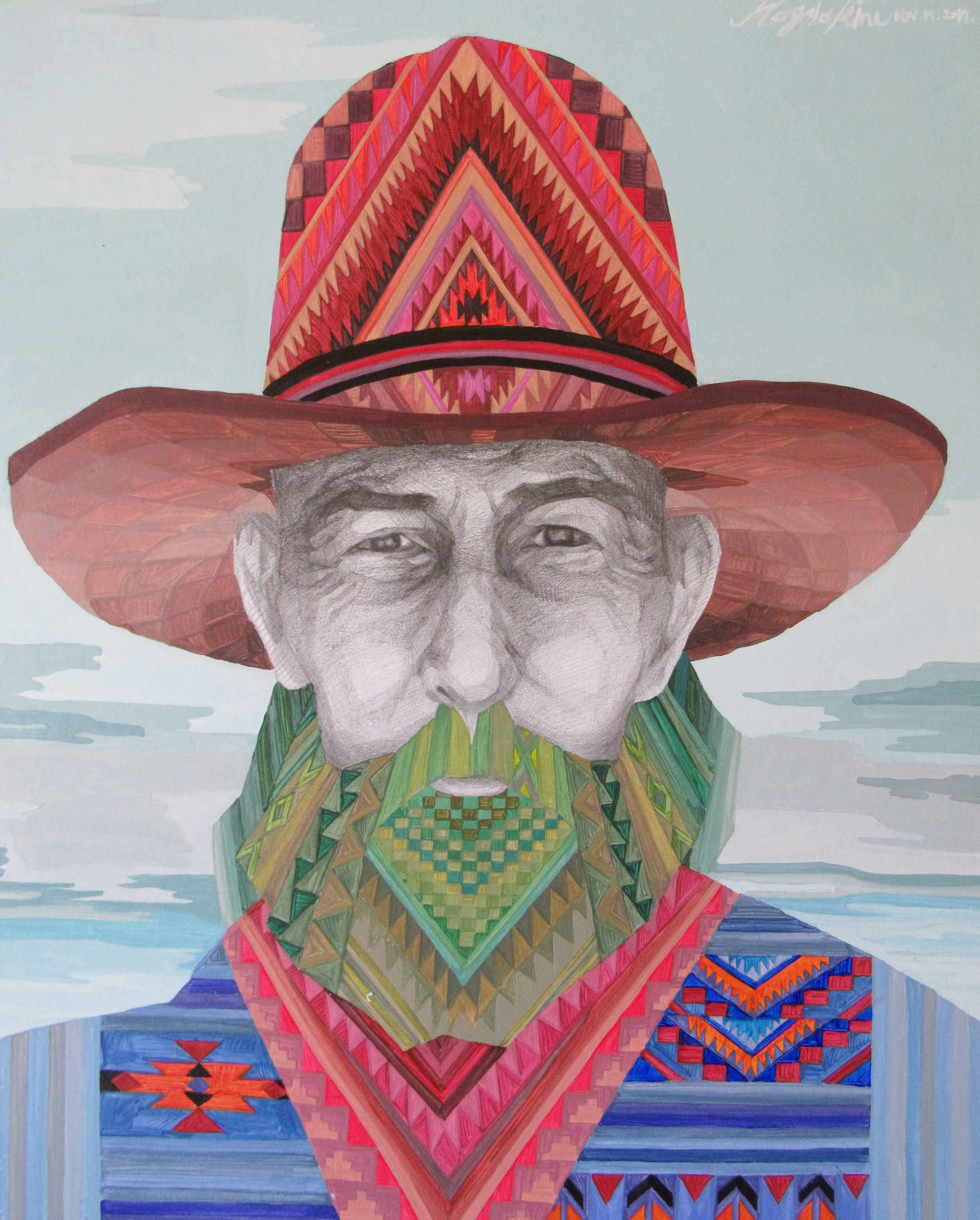 Sold - Colorfreak tribesman