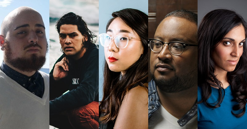 George Abraham, Will Nu'utupu Giles, Franny Choi, F. Douglas Brown, and Ansley Moon.
