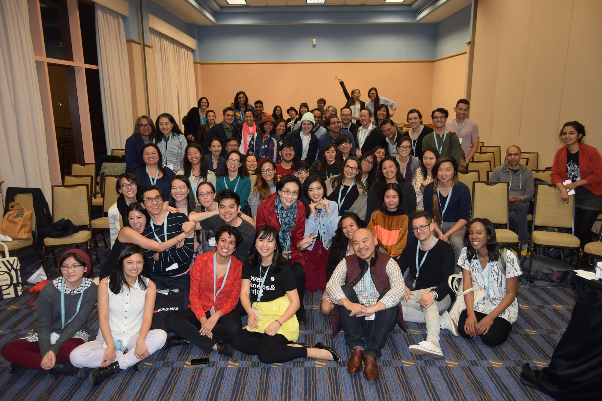 Asian American Caucus at AWP, Tampa, 2018. Photo by Bao Phi.