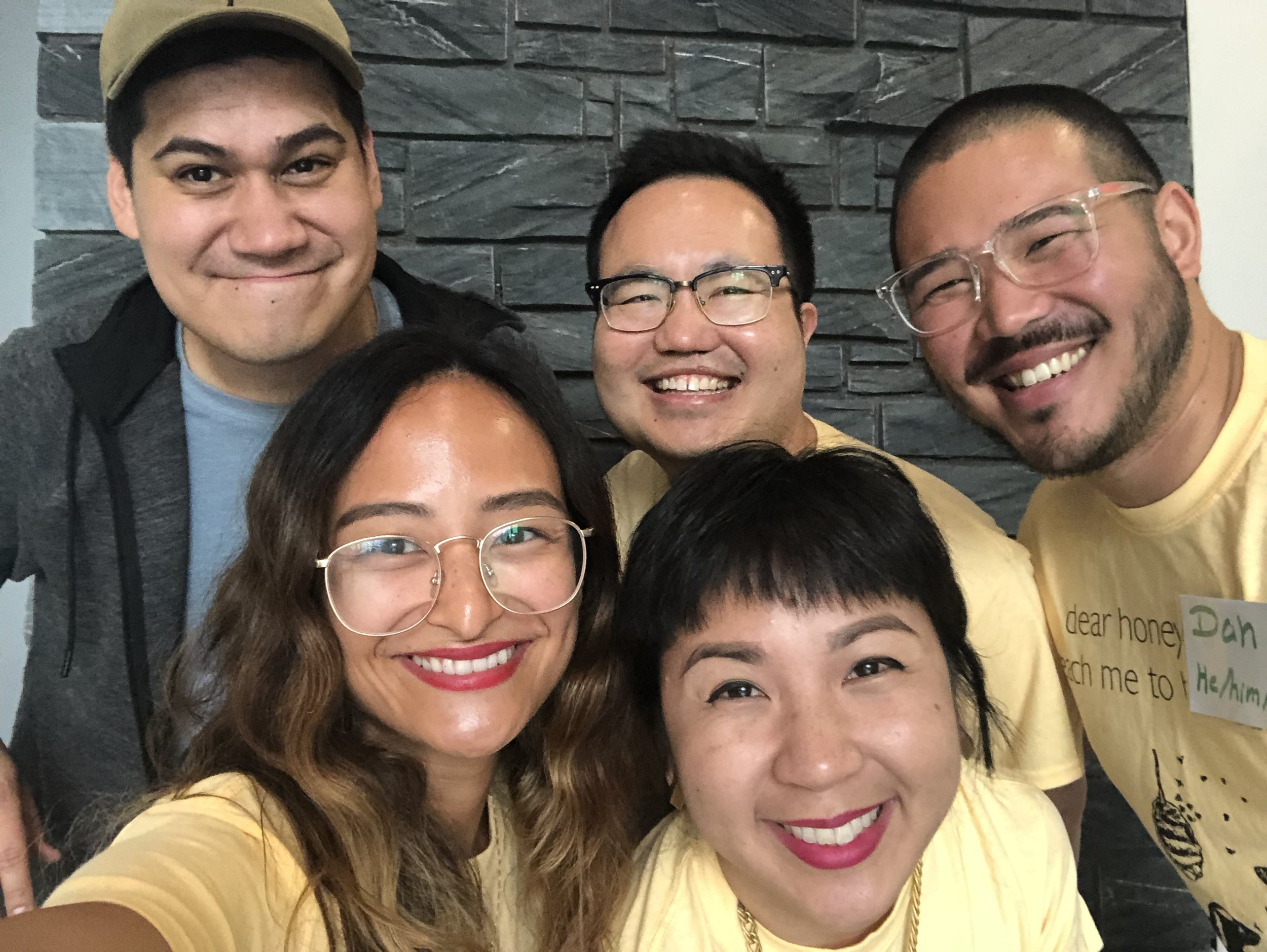 Tim Yu, Dan Lau, Kyle Lucia Wu, and Cathy Linh Che welcome Fellow Timothy Moore!