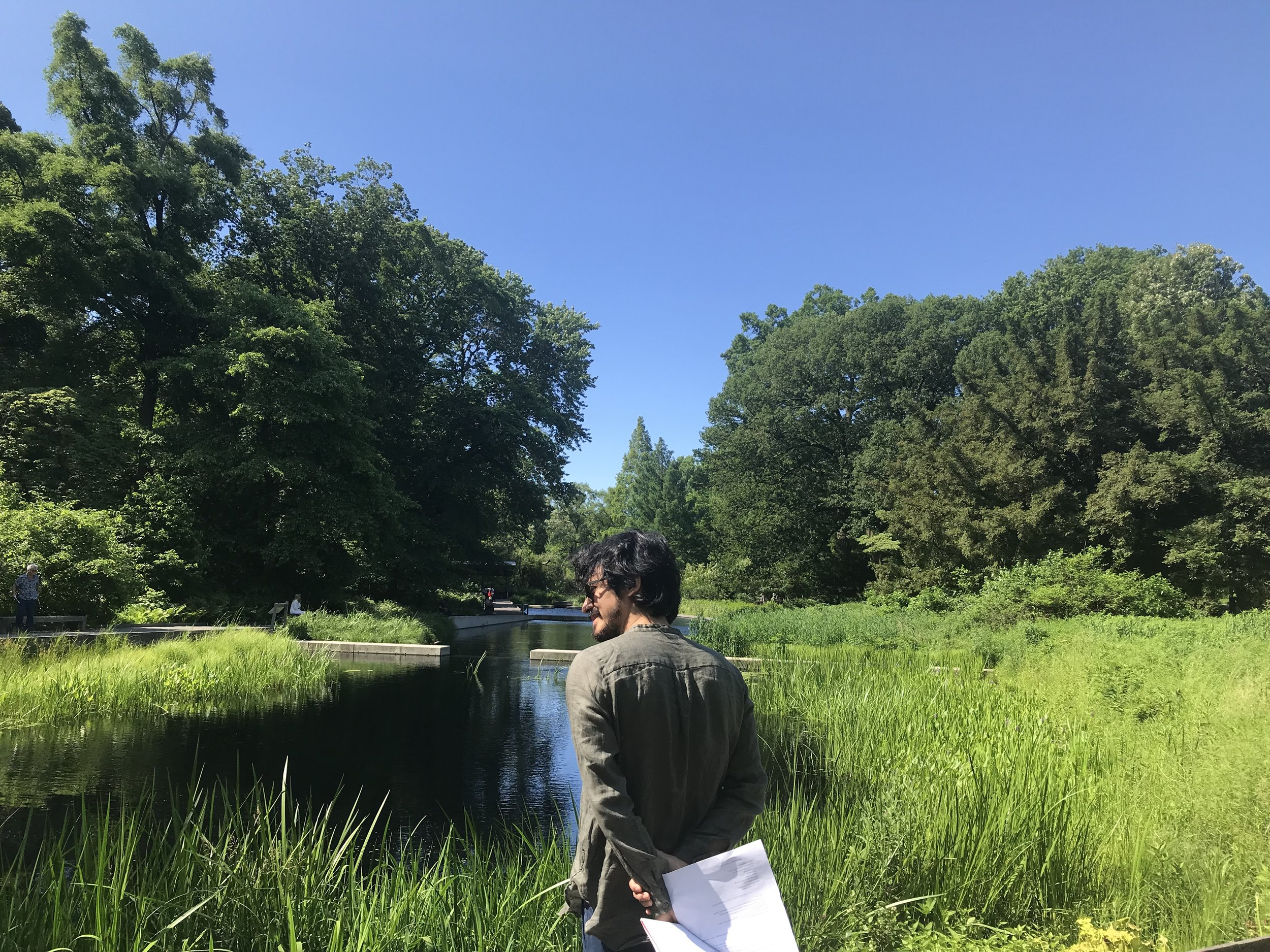 Fellow Rohan Chhetri exploring the New York Botanical Gardens!