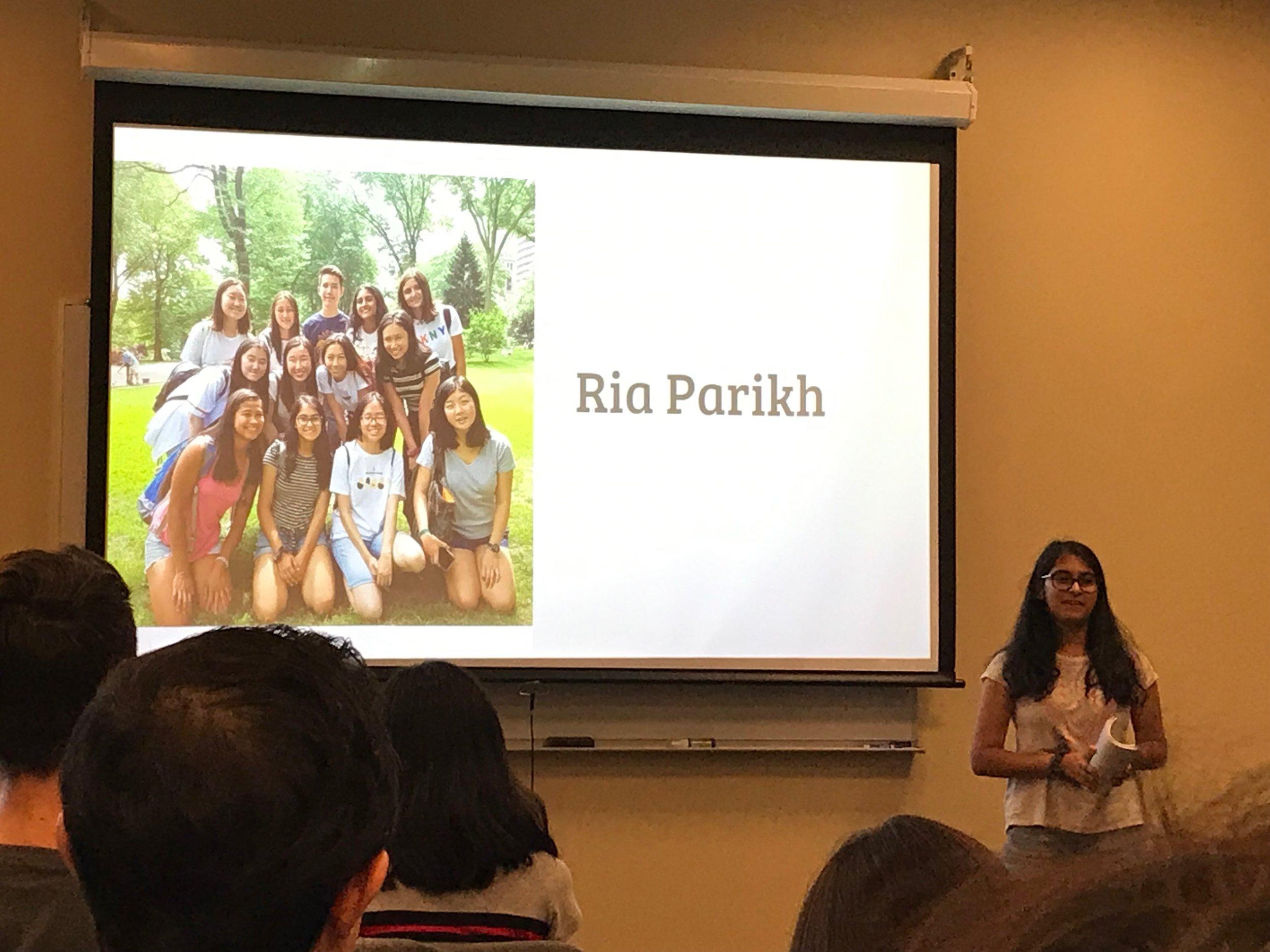 Ria Parikh presents her PechaKucha moment.