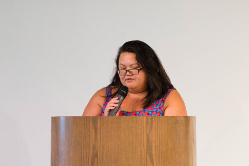 Kimarlee Nguyen at the 2019 Asian American Literature Festival. Photo by Tommy Piantone.