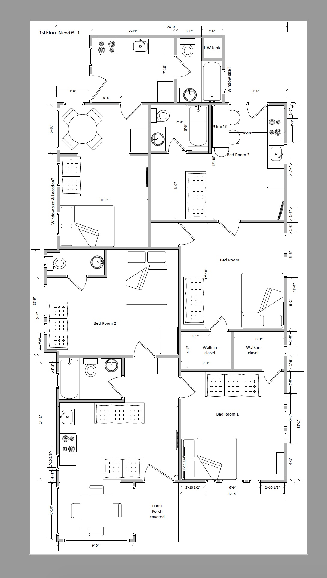 This is the design to convert to 3 units. If this doesn't pass approval, we will go to 2 units.
