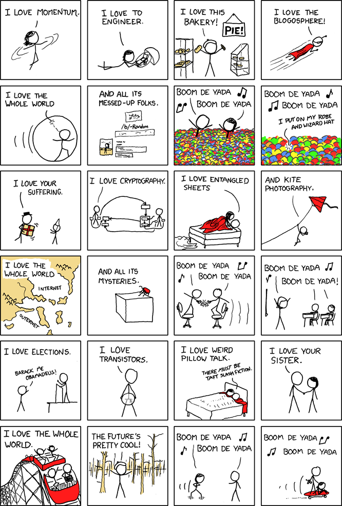 XKCD Loves the Discover Channel . And I love you.