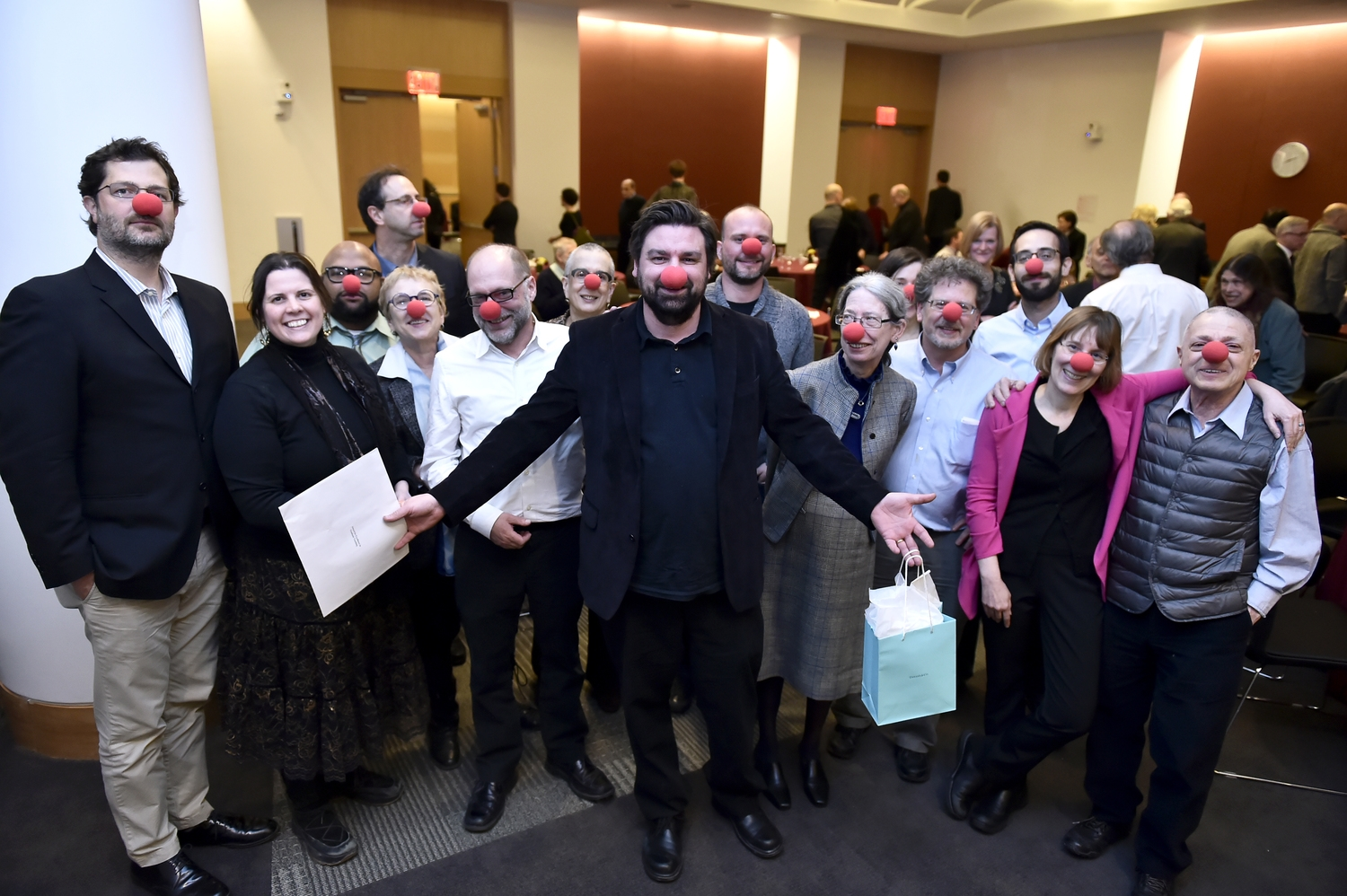 Fordham's English department faculty at our most dignified. ( photo credit: Dana Maxson).