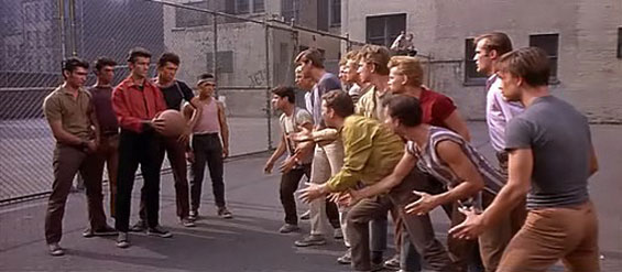 The Sharks and the Jets in  West Side Story