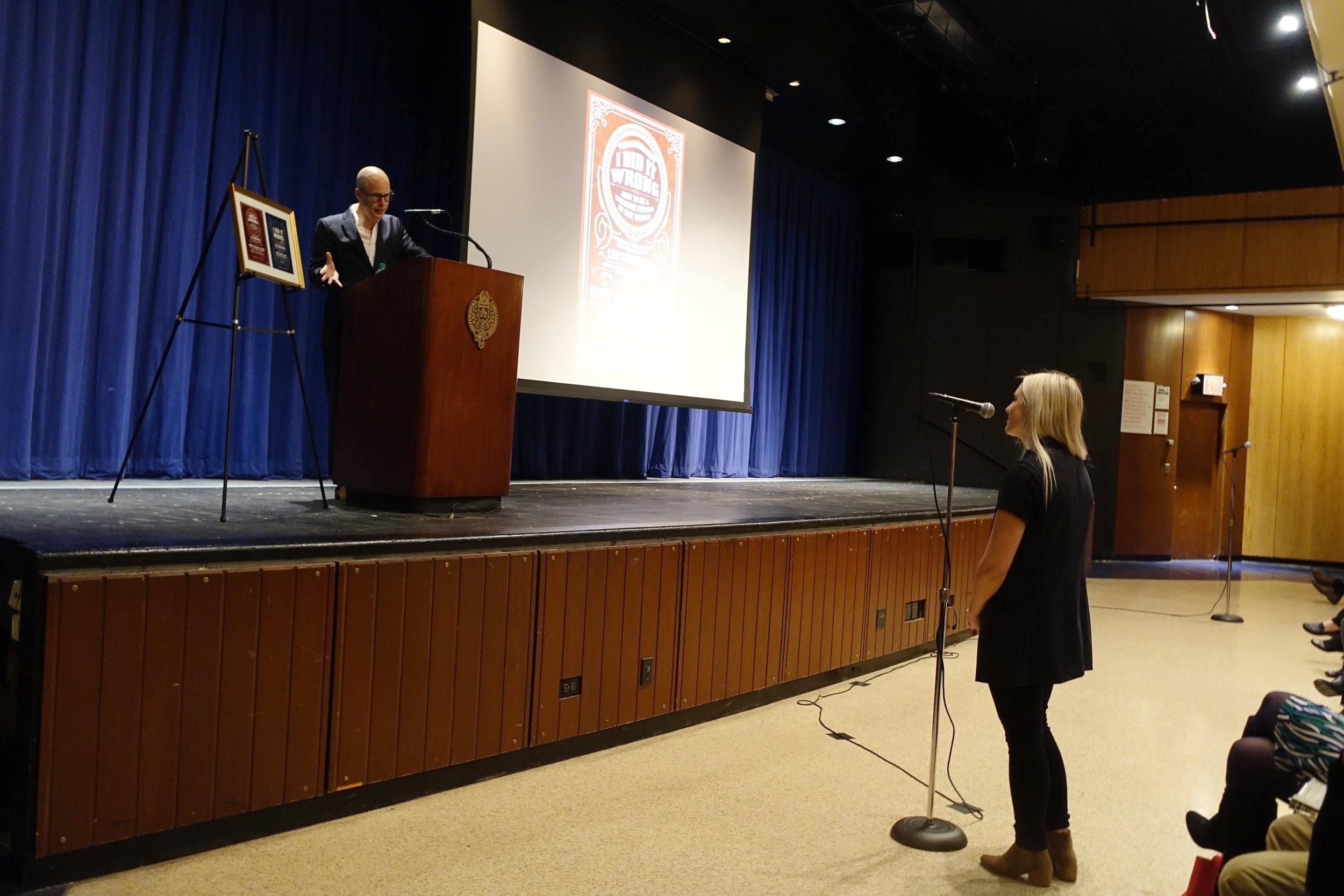 After his presentation, Grossman addressed questions from students and faculty in attendance.