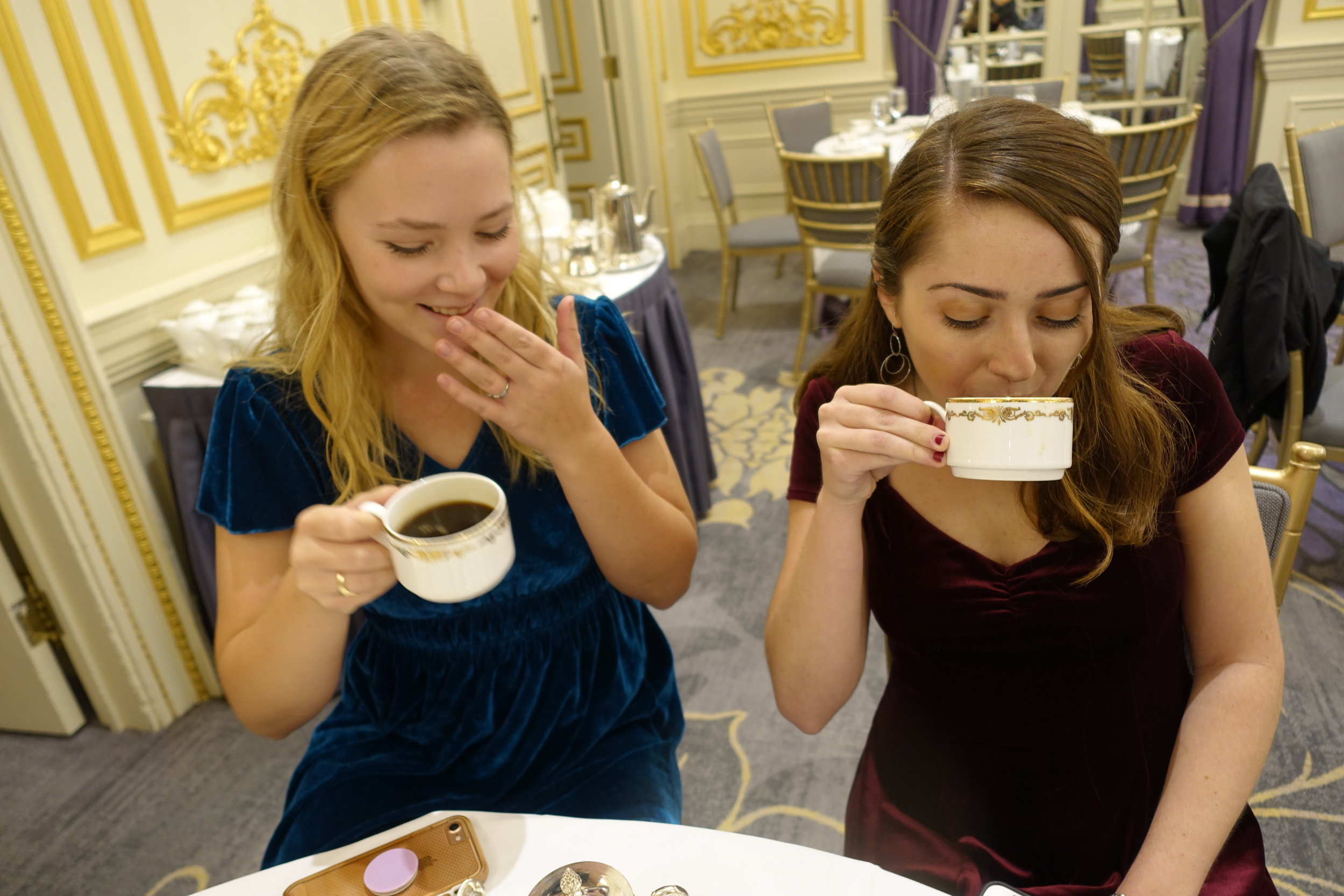Students, faculty, and the MHC Chair enjoyed tea, desserts, and each other's company during High Tea at the St. Regis.