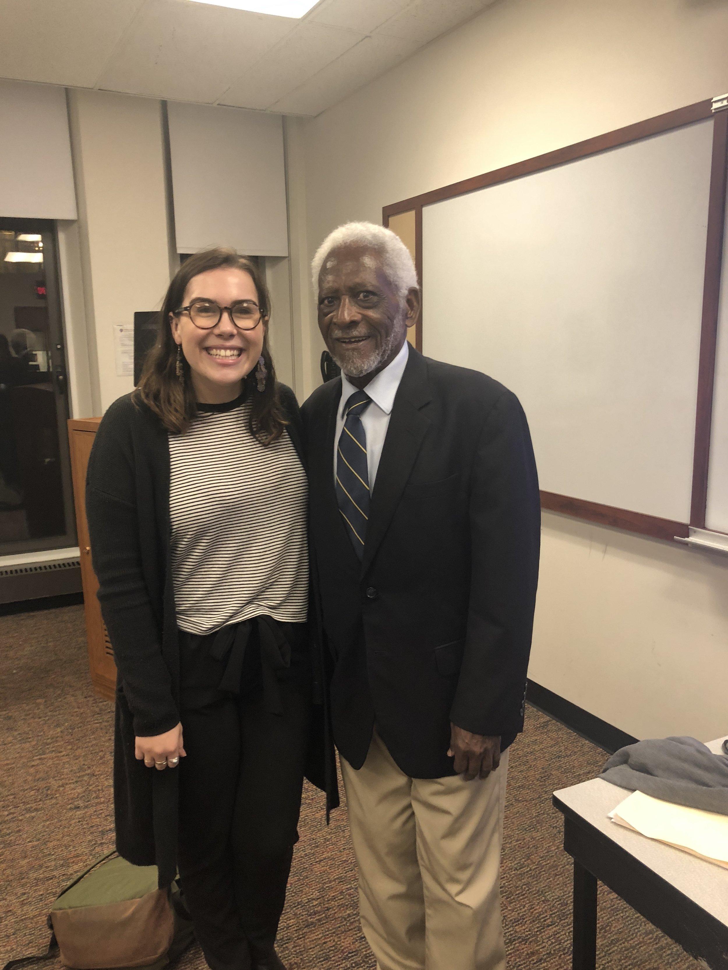 Olivia Lucas with Ambassador Joseph