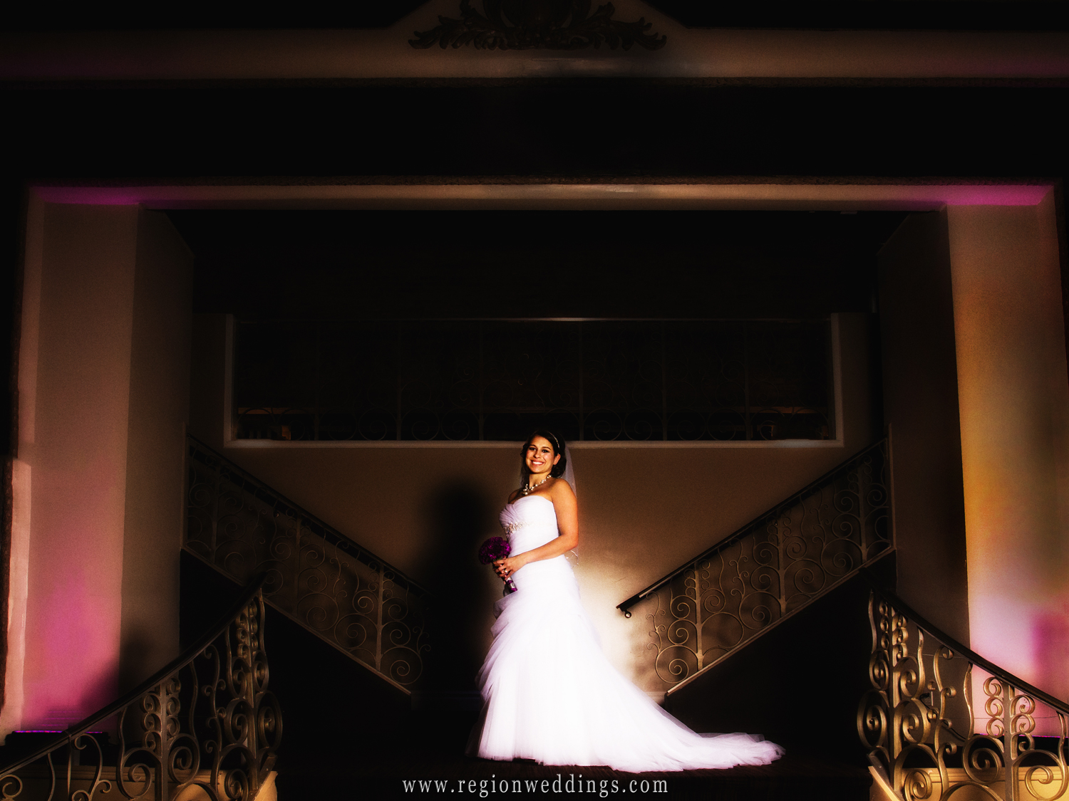 A bride displays her glowing smile soon after her Spring wedding at The Allure in Laporte, Indiana.