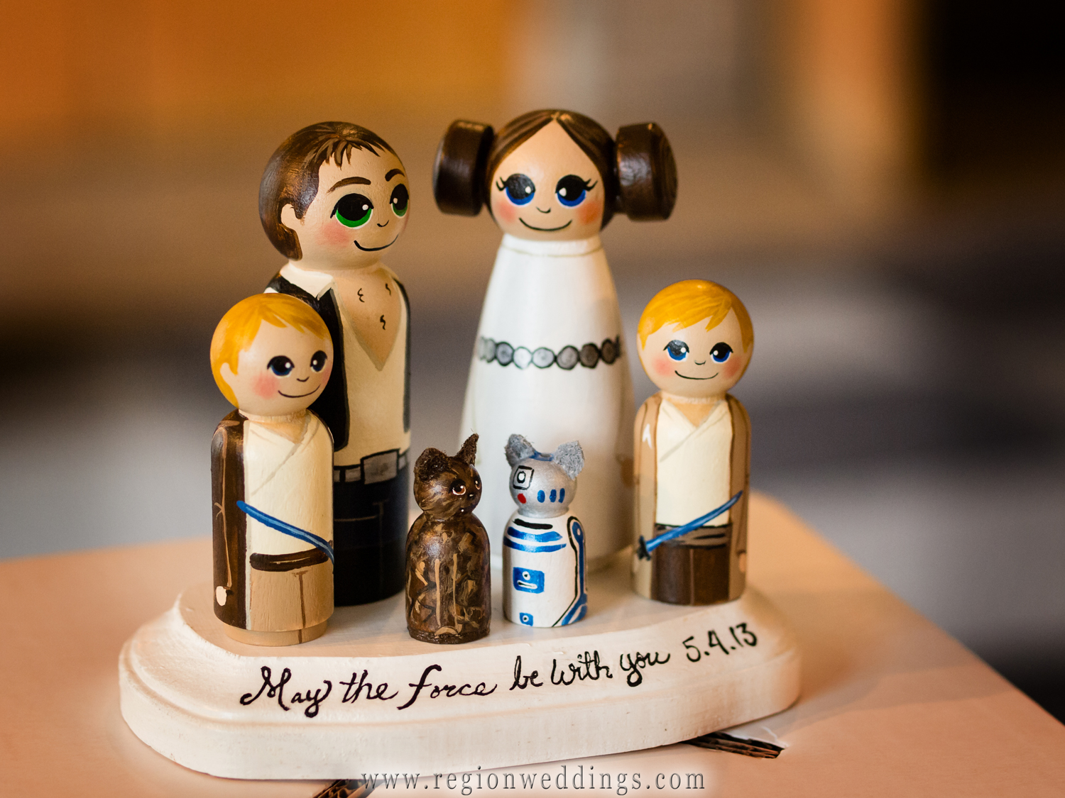 Star Wars wedding decorations on display at Casa Maria Banquet Hall in Dyer, Indiana.