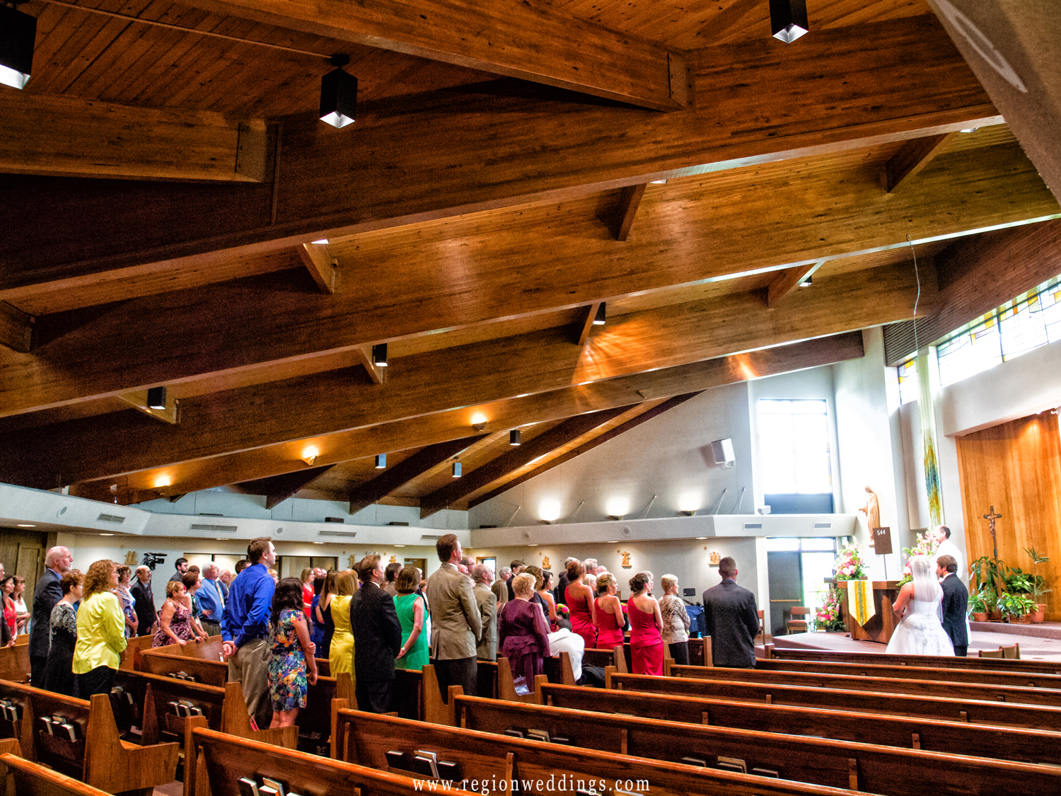A view from the pews of St. Elizabeth Ann Seton Church in Valparaiso, Indiana.