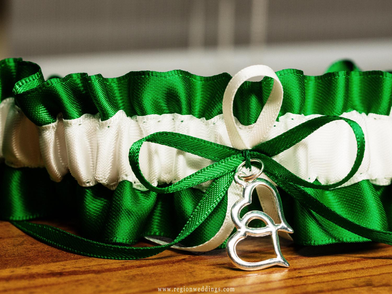 Green garter belt.