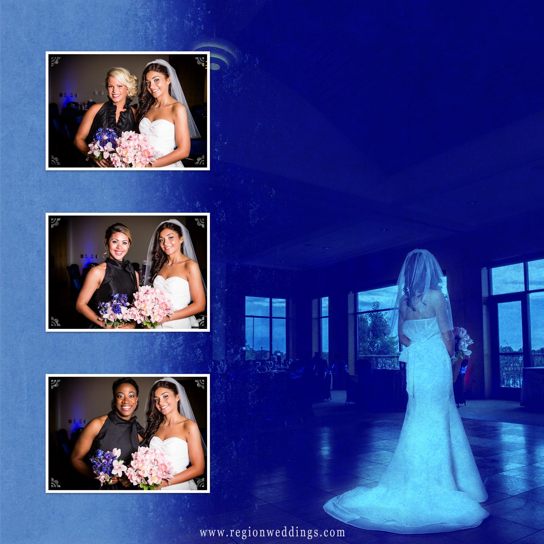 A bridesmaid wedding album page.